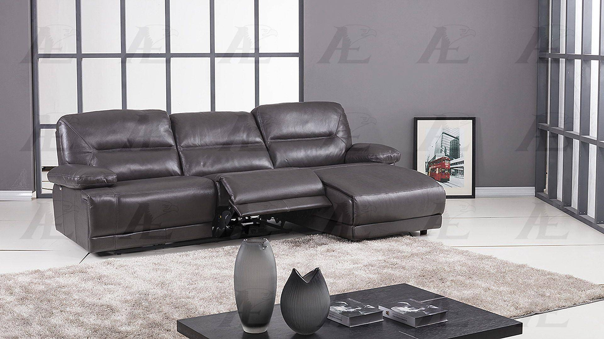 American Eagle Furniture EK-L079-DG Dark Gray Sectional ...