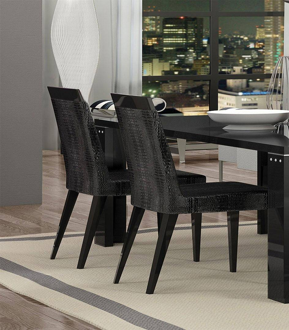 At Home Dining Chairs.At Home Usa Armonia Diamond Black Crocodile Textured Dining Chair