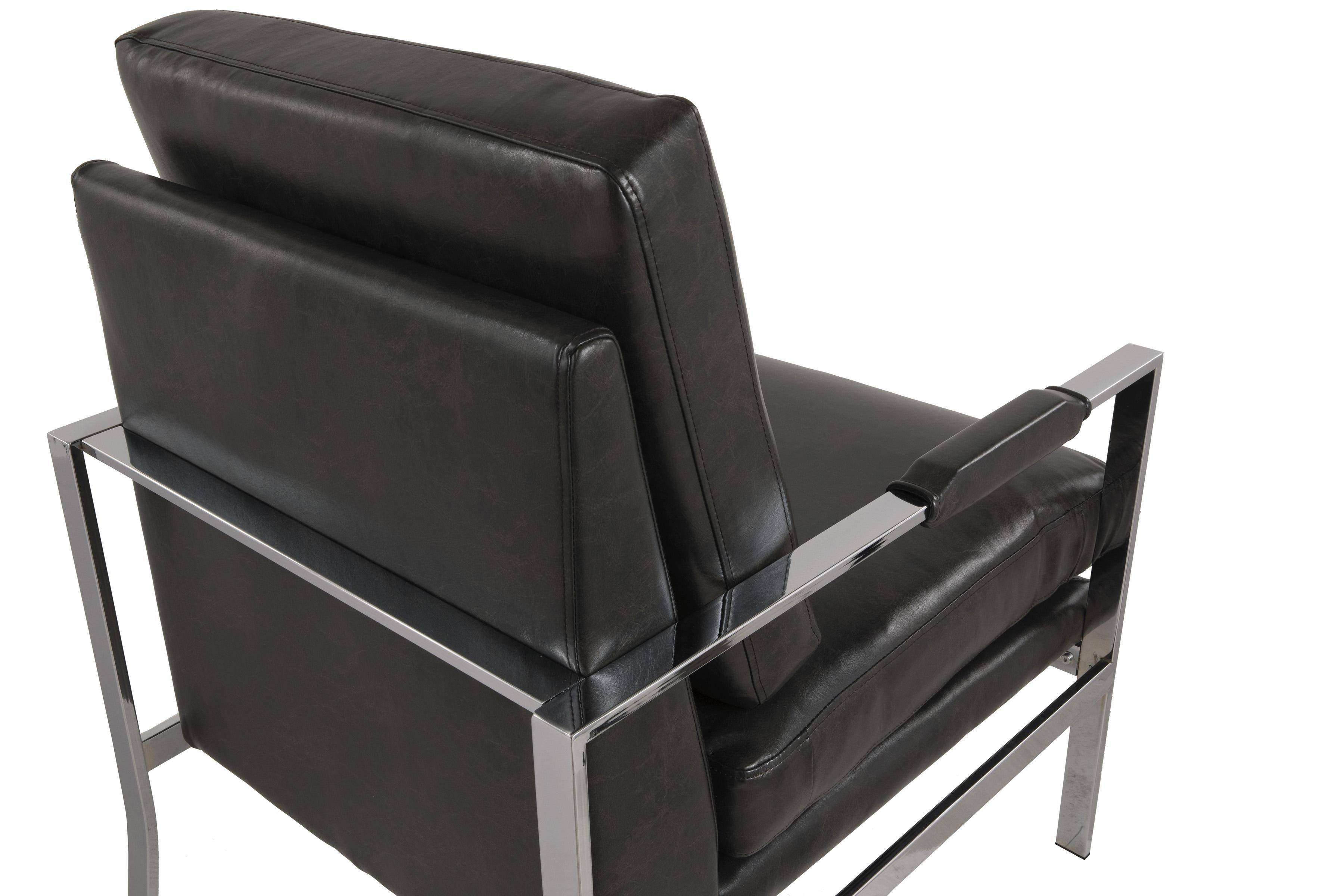 Fantastic Ashley Network A3000028 Accent Chair In Black Faux Leather Ibusinesslaw Wood Chair Design Ideas Ibusinesslaworg