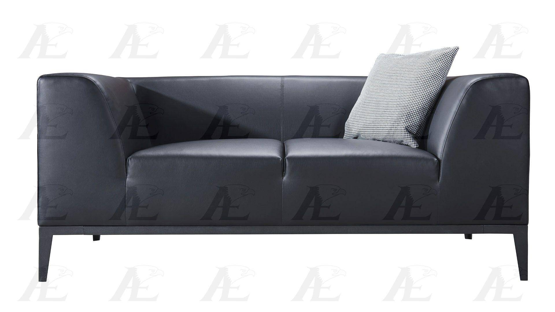 american eagle aed820bk black faux leather living room