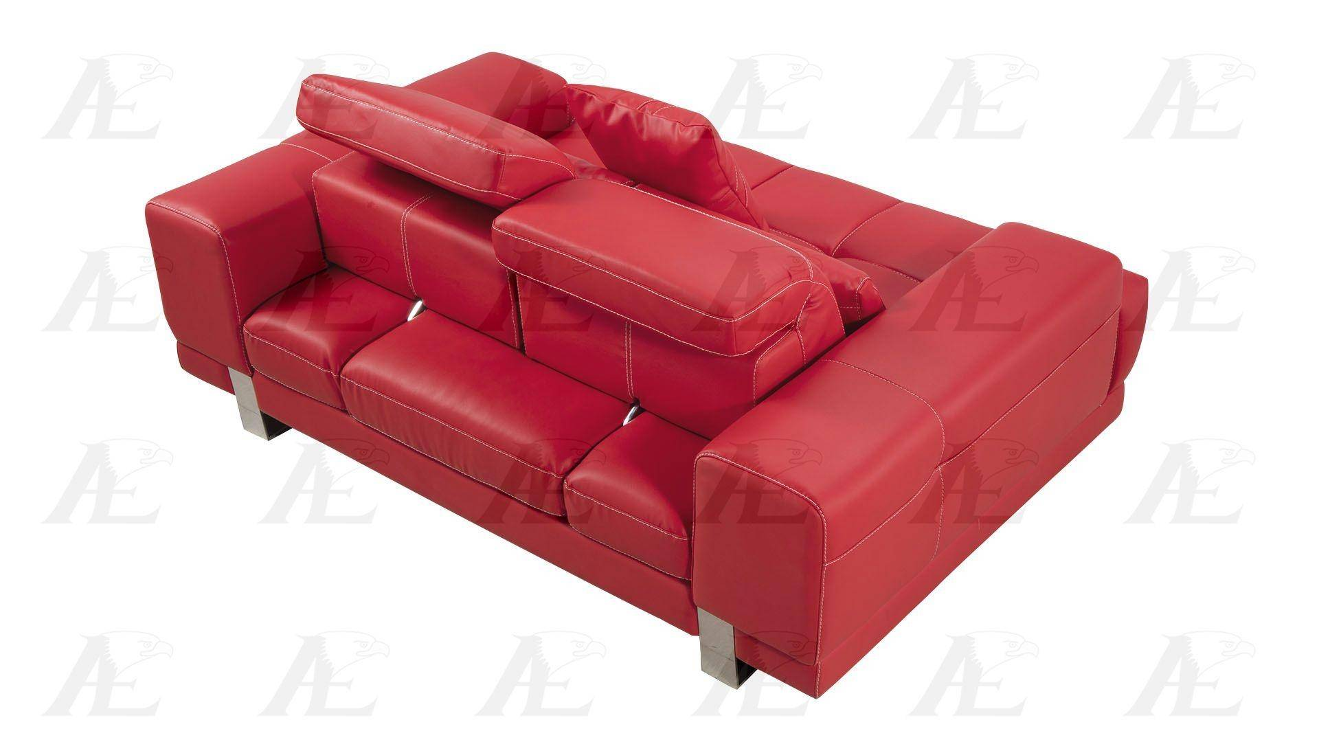 Strange American Eagle Furniture Ae606 Red Sofa Loveseat And 2 Chair Evergreenethics Interior Chair Design Evergreenethicsorg