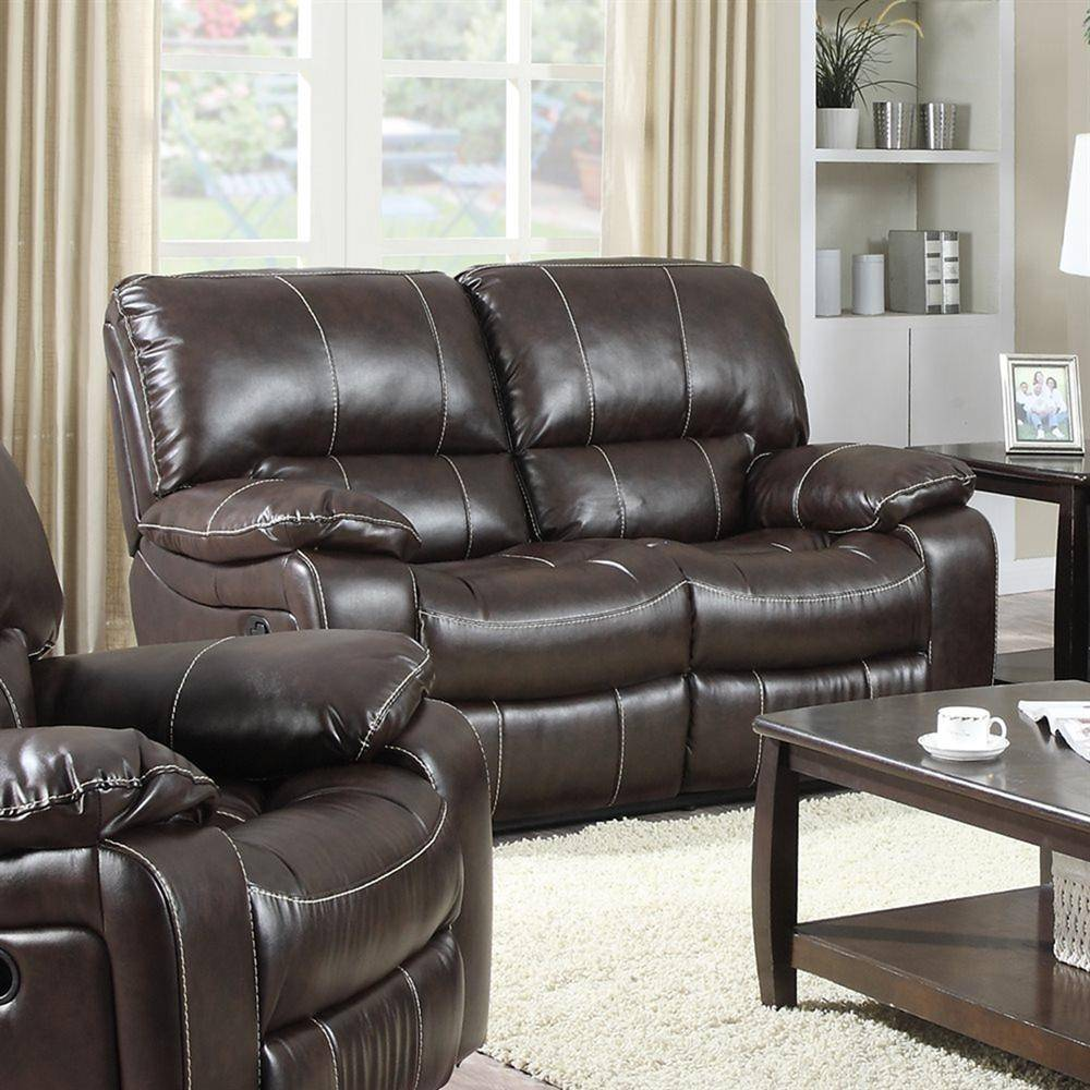 Roomstore Furniture Store: Modern Dark Brown Leather Air Reclining Power Sofa Set