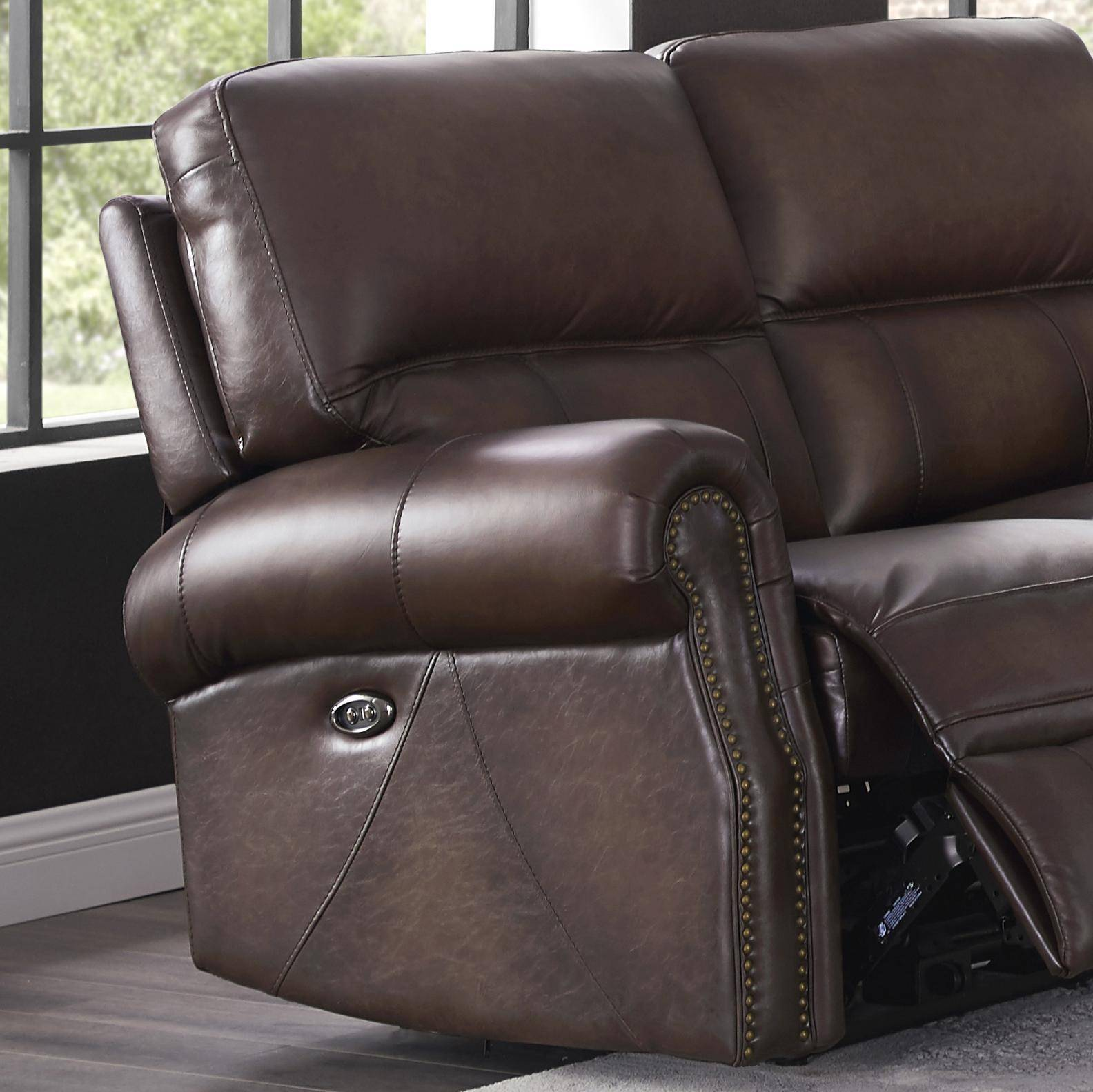 Enjoyable Walnut Genuine Leather Power Reclining Loveseat Raymond Ocoug Best Dining Table And Chair Ideas Images Ocougorg