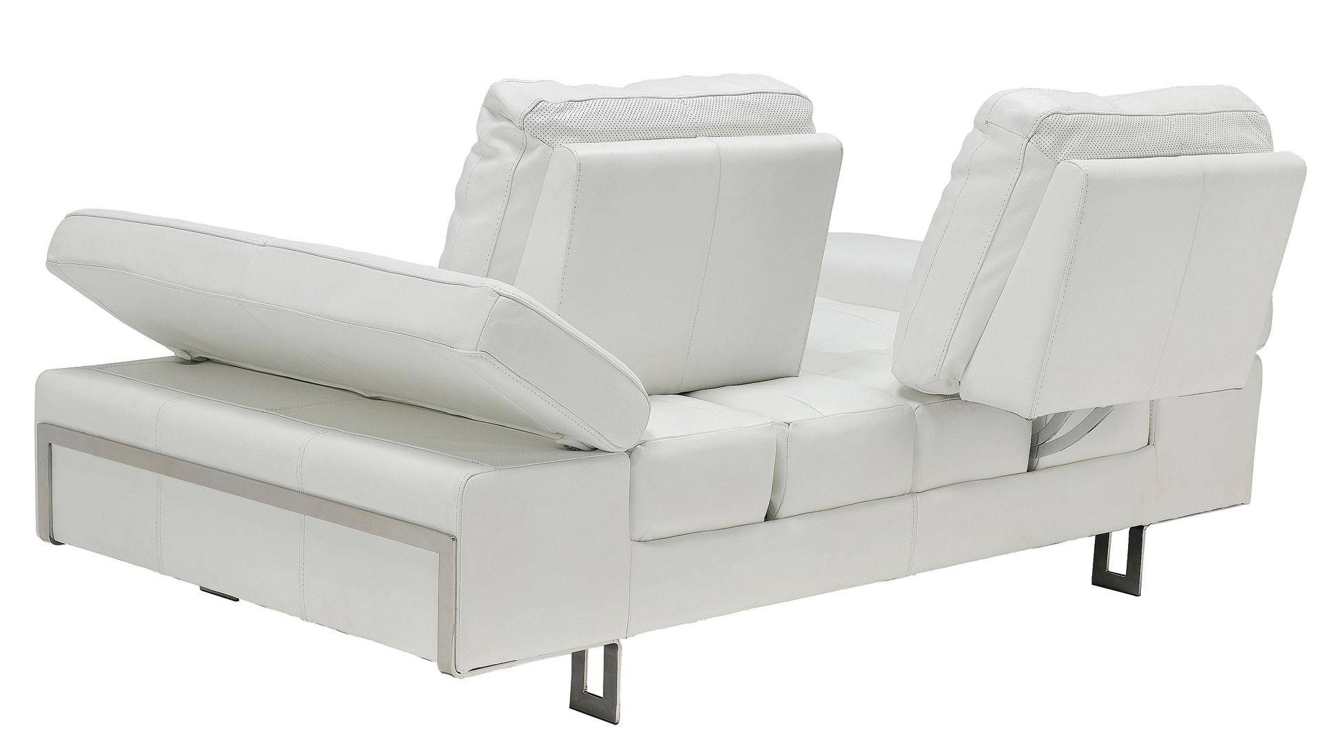 At Home USA Gia White Luxury Italian Leather Ultra Modern Sofa Set ...