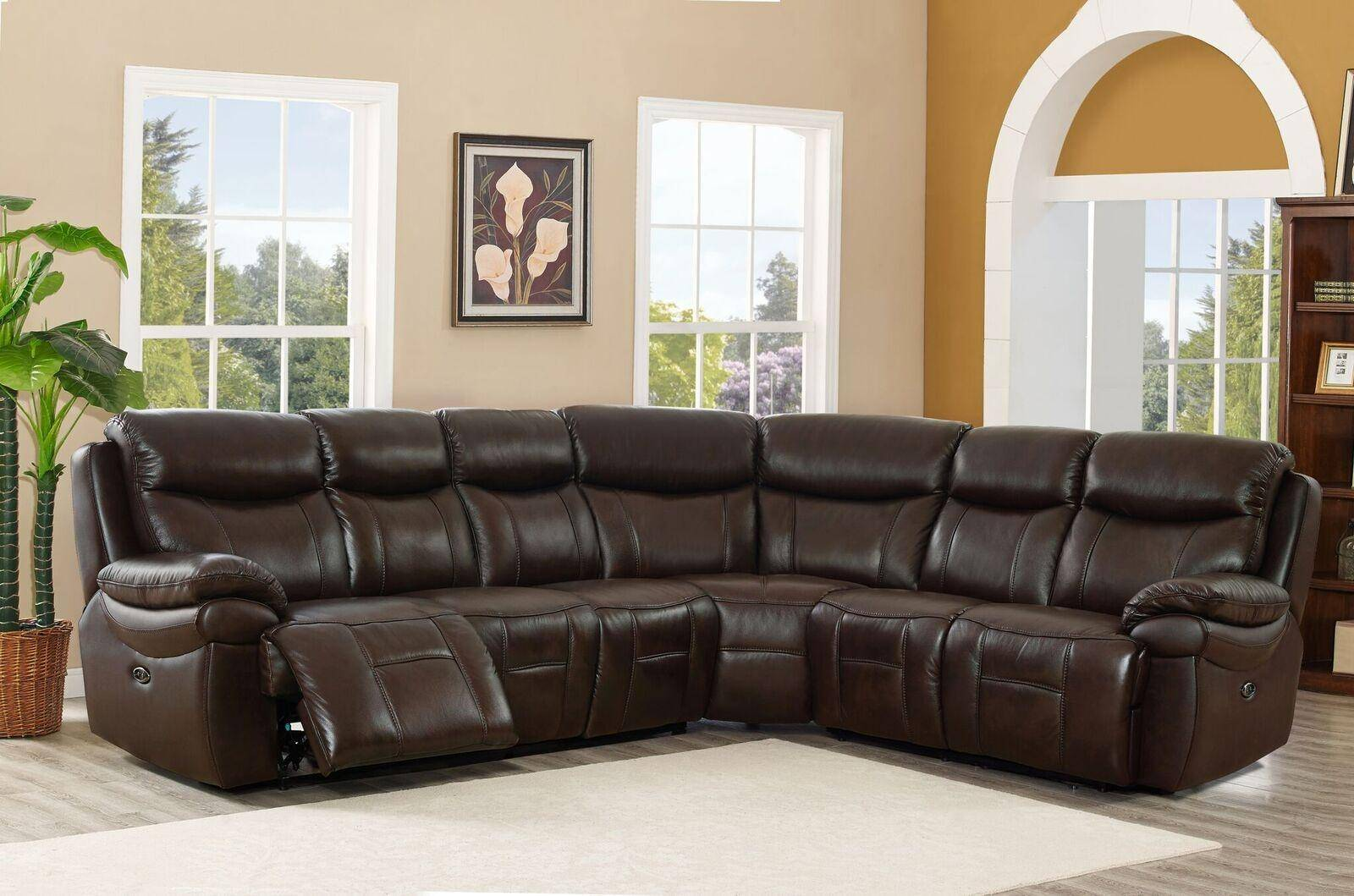 Marvelous Top Grain Leather Power Reclining Sectional Sofa Hydeline Fraser Amax Leather Unemploymentrelief Wooden Chair Designs For Living Room Unemploymentrelieforg