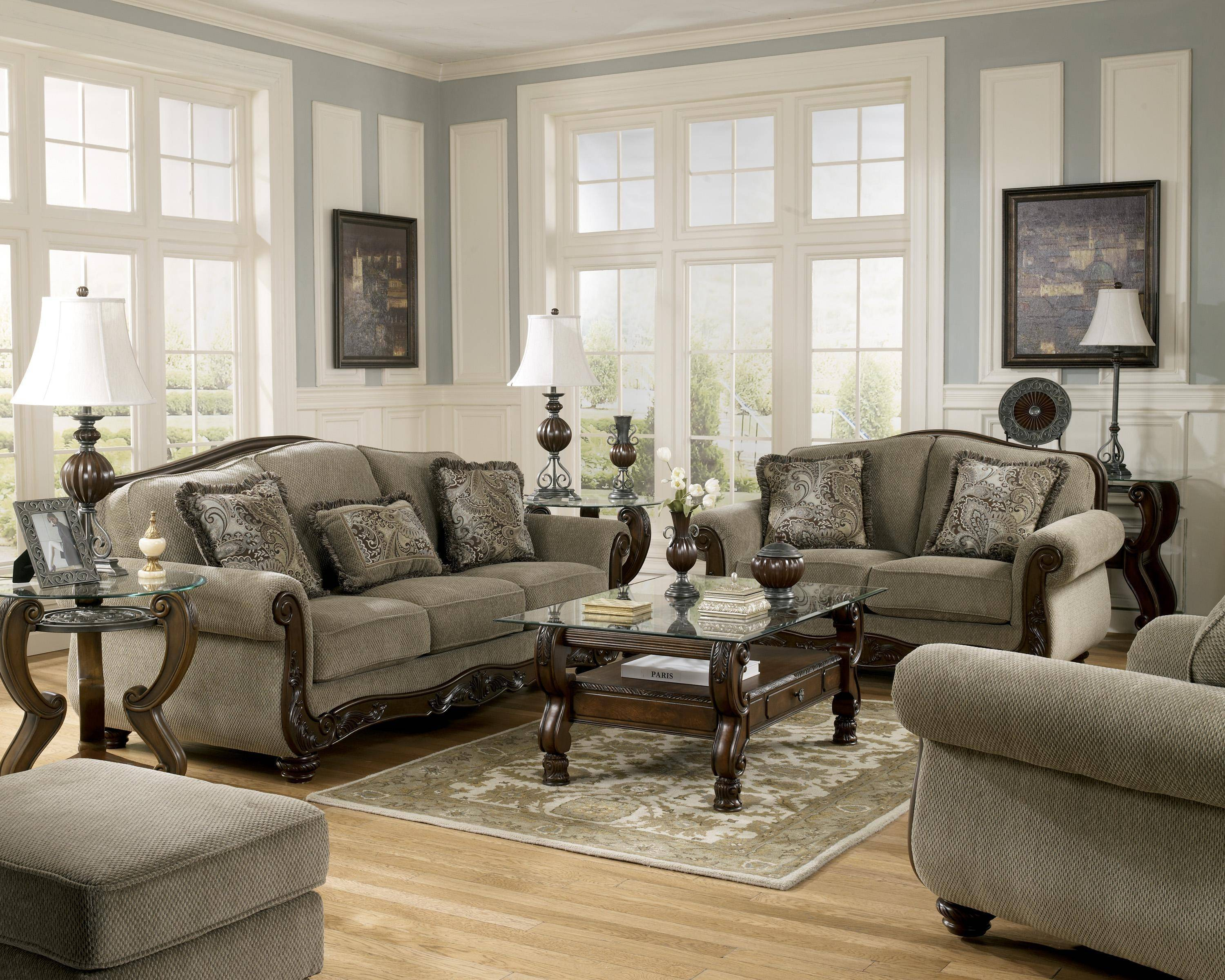 ashley martinsburg 4 piece living room set in meadow