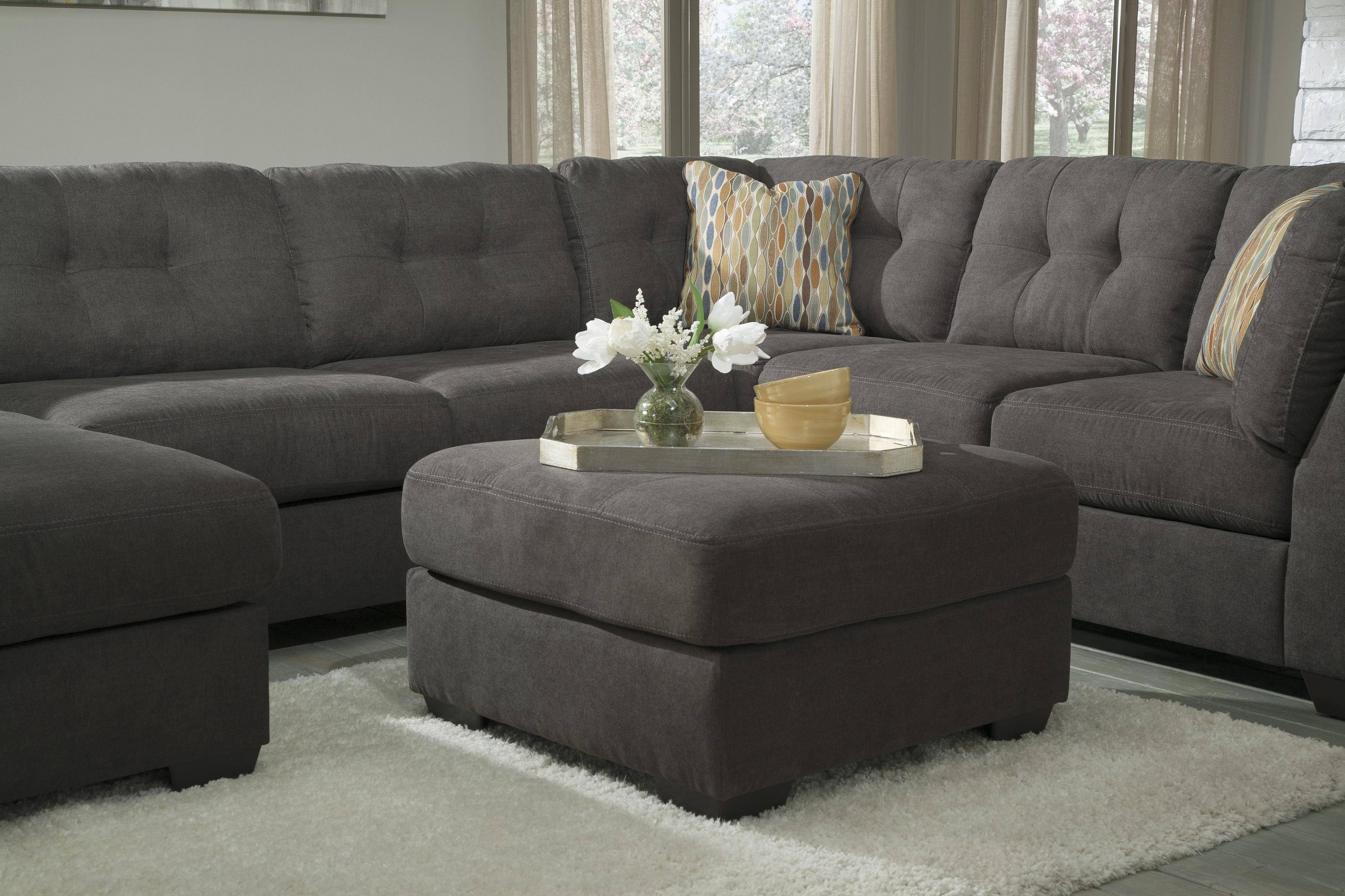 Outstanding Ashley Delta City 4Pcs Sectional In Steel Left Hand Facing Beatyapartments Chair Design Images Beatyapartmentscom