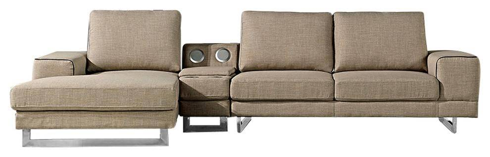 Strange At Home Usa Adele Ultra Modern Beige Fabric Sectional Sofa Ncnpc Chair Design For Home Ncnpcorg