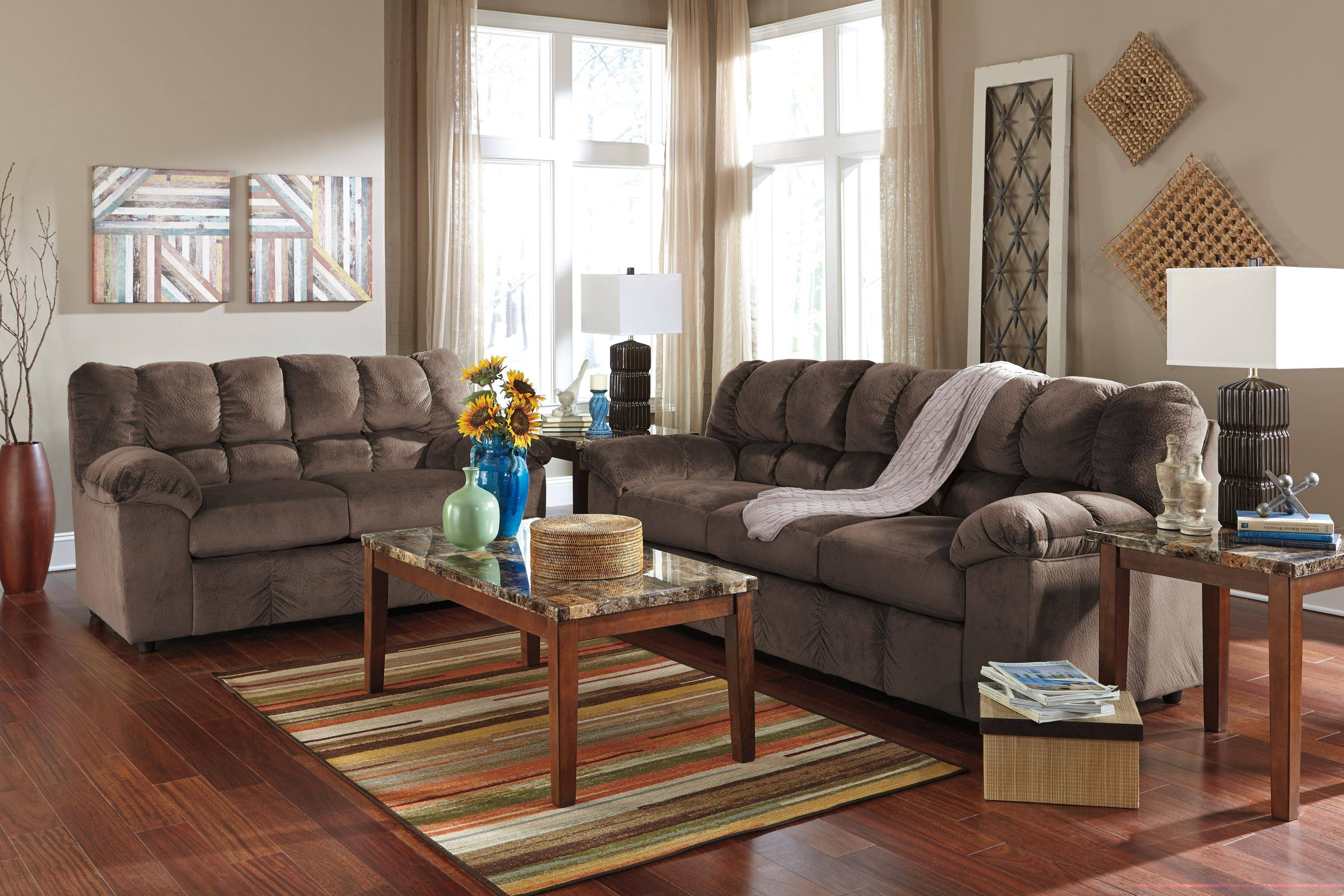 ashley julson 2 piece living room set in cafe 266043835