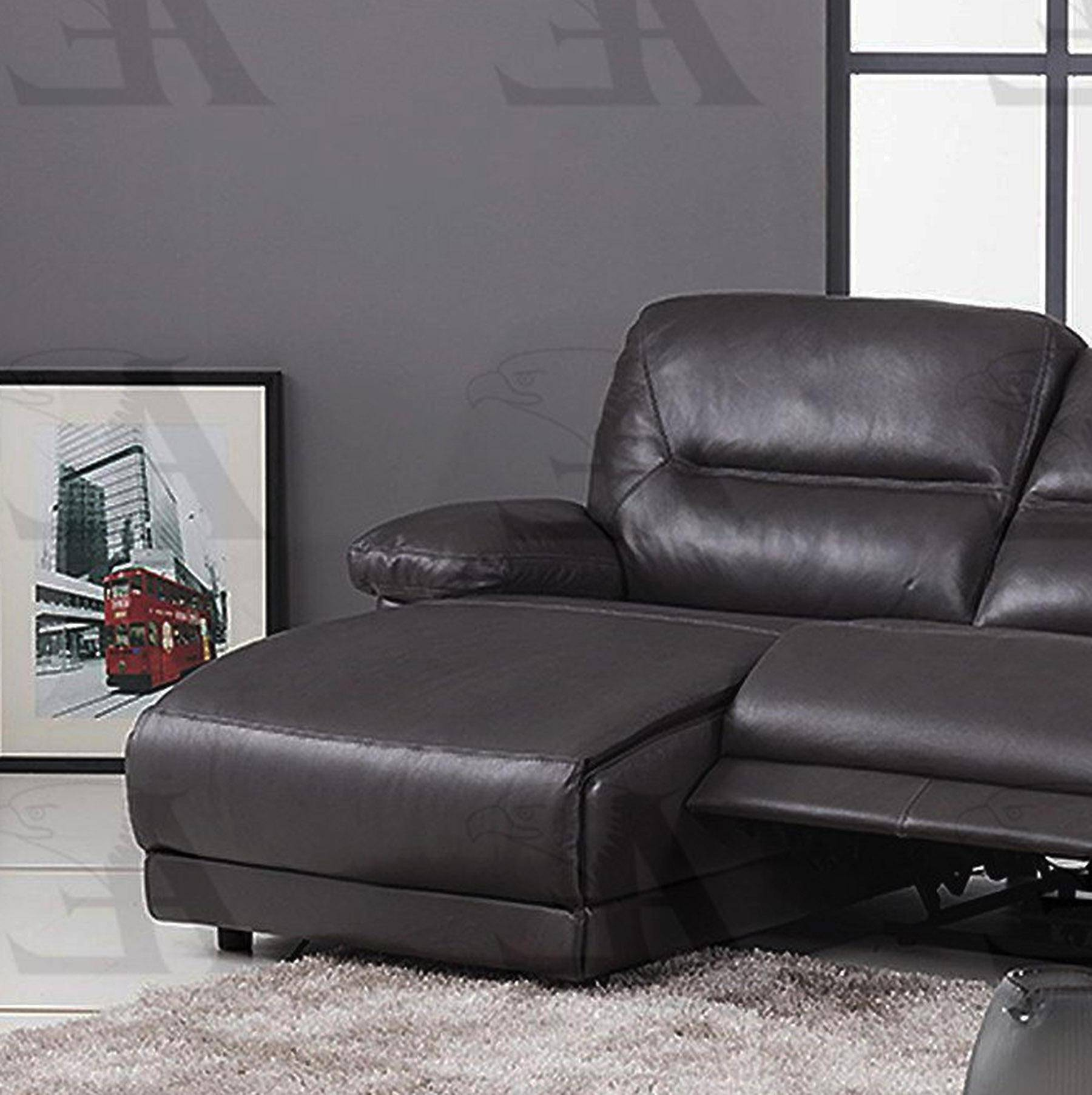 American Eagle Furniture EK-L079-DG Dark Gray Sectional Recliner ...