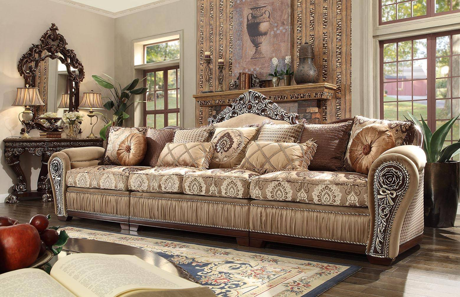 Incredible Homey Design Hd 1632 Victorian Upholstery Desert Sand Squirreltailoven Fun Painted Chair Ideas Images Squirreltailovenorg