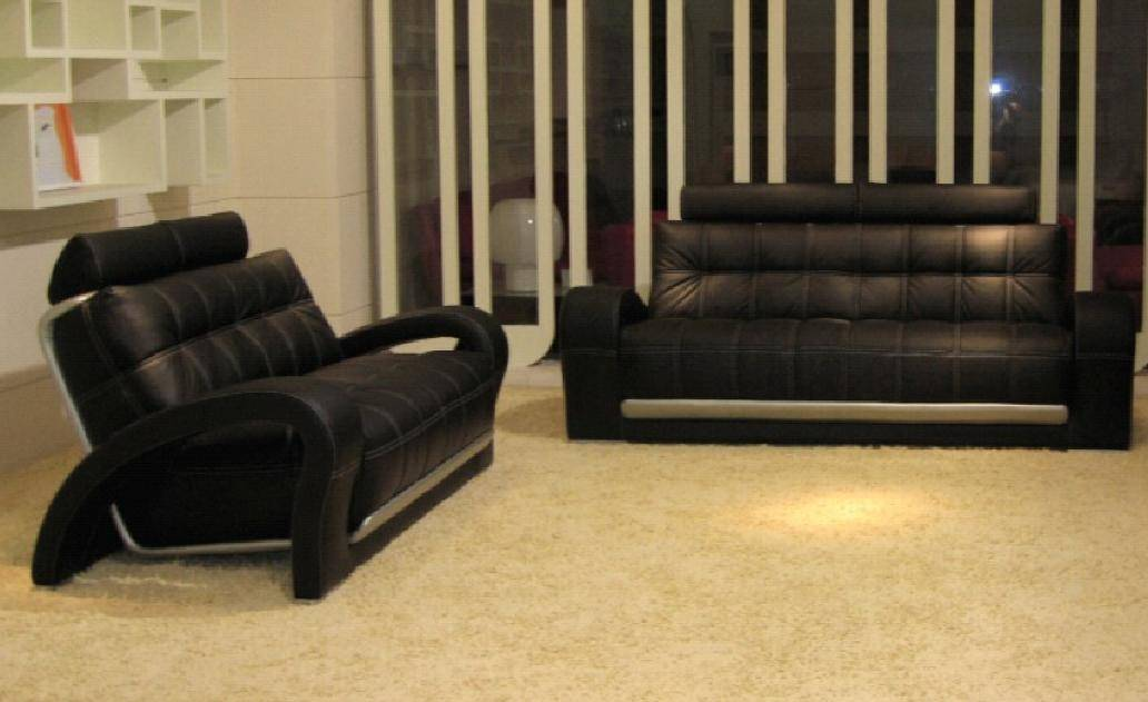 Eco Leather Sofa Set 3pcs