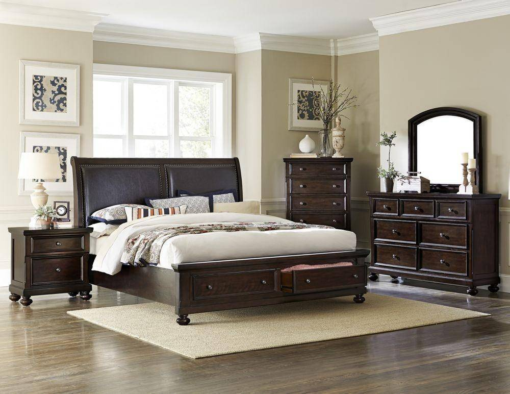 Homelegance 1834K-1EK Faust Dark Cherry Wood Cal King Bed ...