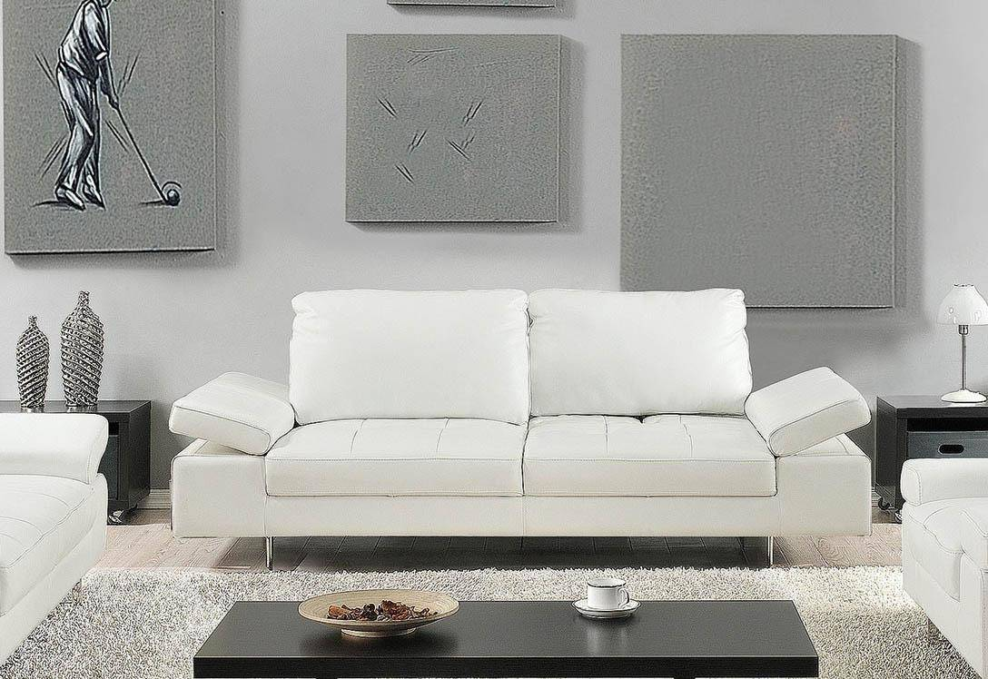 At home usa gia white luxury italian leather ultra modern sofa contemporary order online