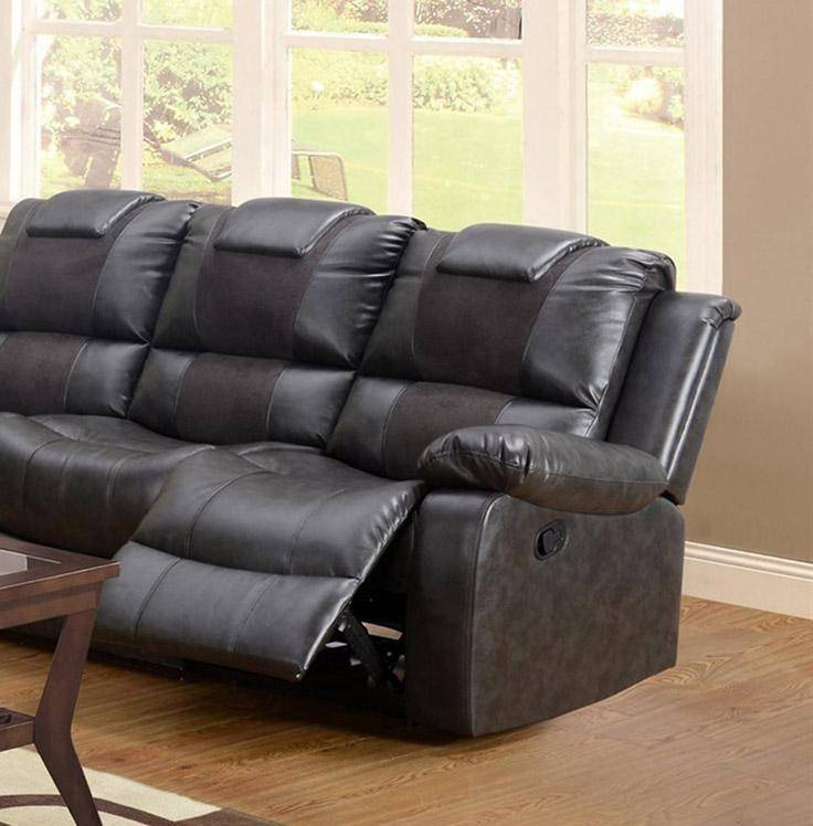 Roomstore Furniture Store: MYCO Furniture Felton Modern Black Bonded Leather