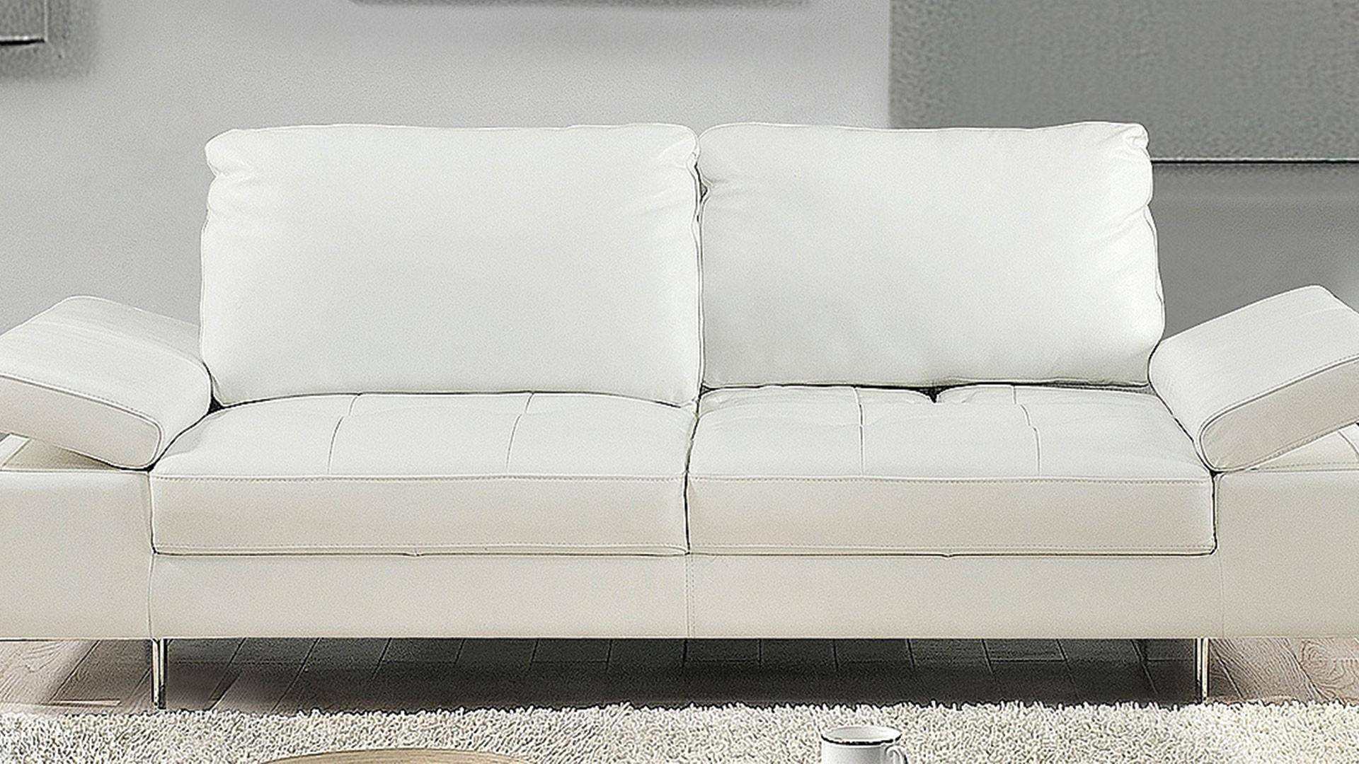 Made In Italy Leather Luxury Contemporary Furniture Set: At Home USA Gia White Luxury Italian Leather Ultra Modern