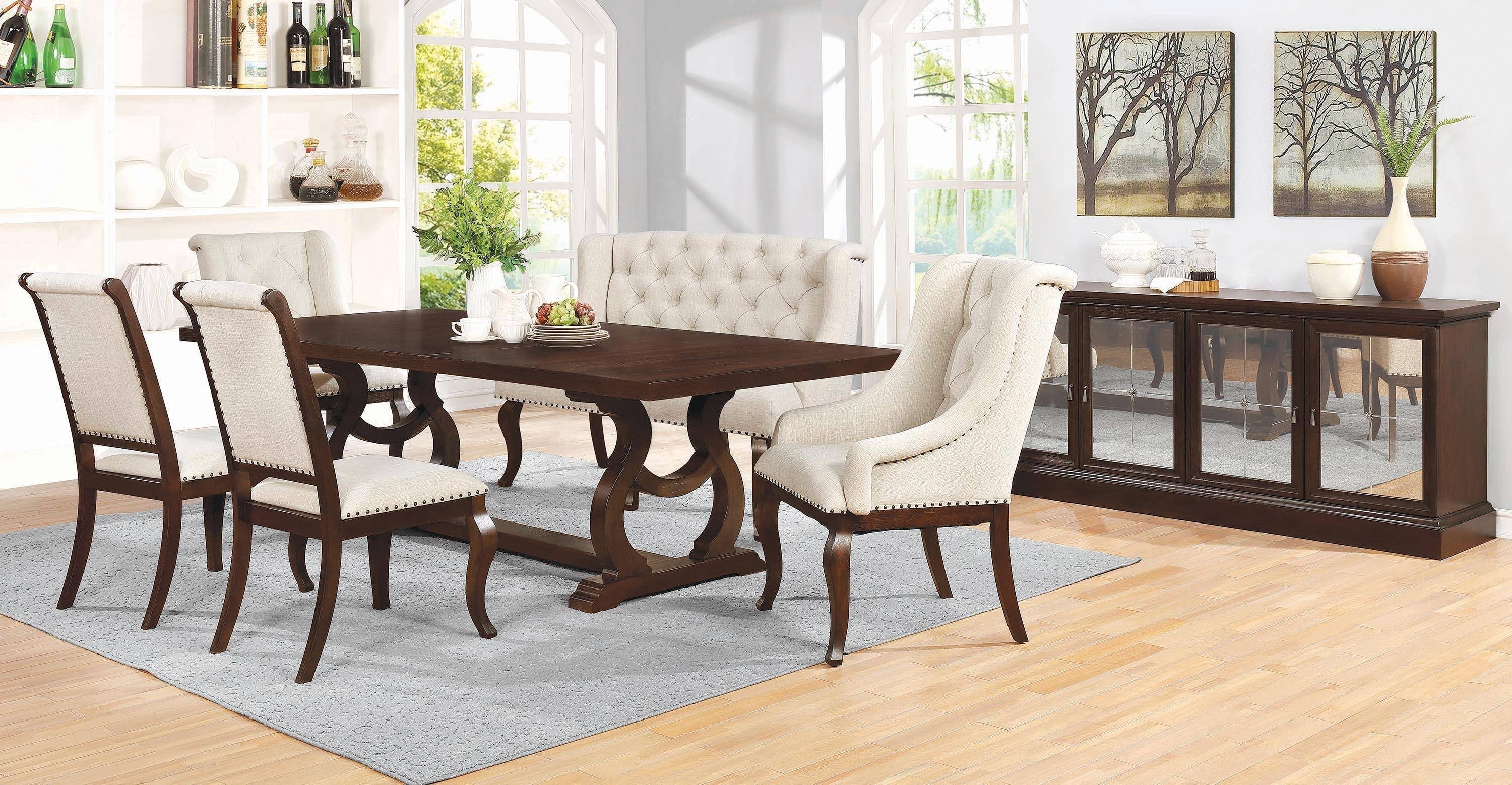 Awesome Traditional Brown Wood Dining Table Glen Cove By Coaster Home Interior And Landscaping Ologienasavecom