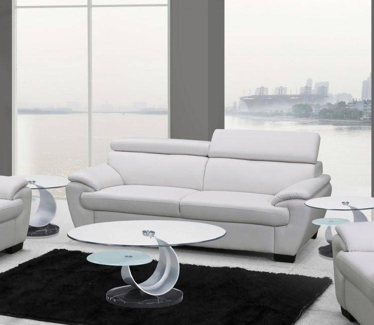Stupendous Contemporary White Leather Match Sofa Loveseat Set 2Pcs Andrewgaddart Wooden Chair Designs For Living Room Andrewgaddartcom