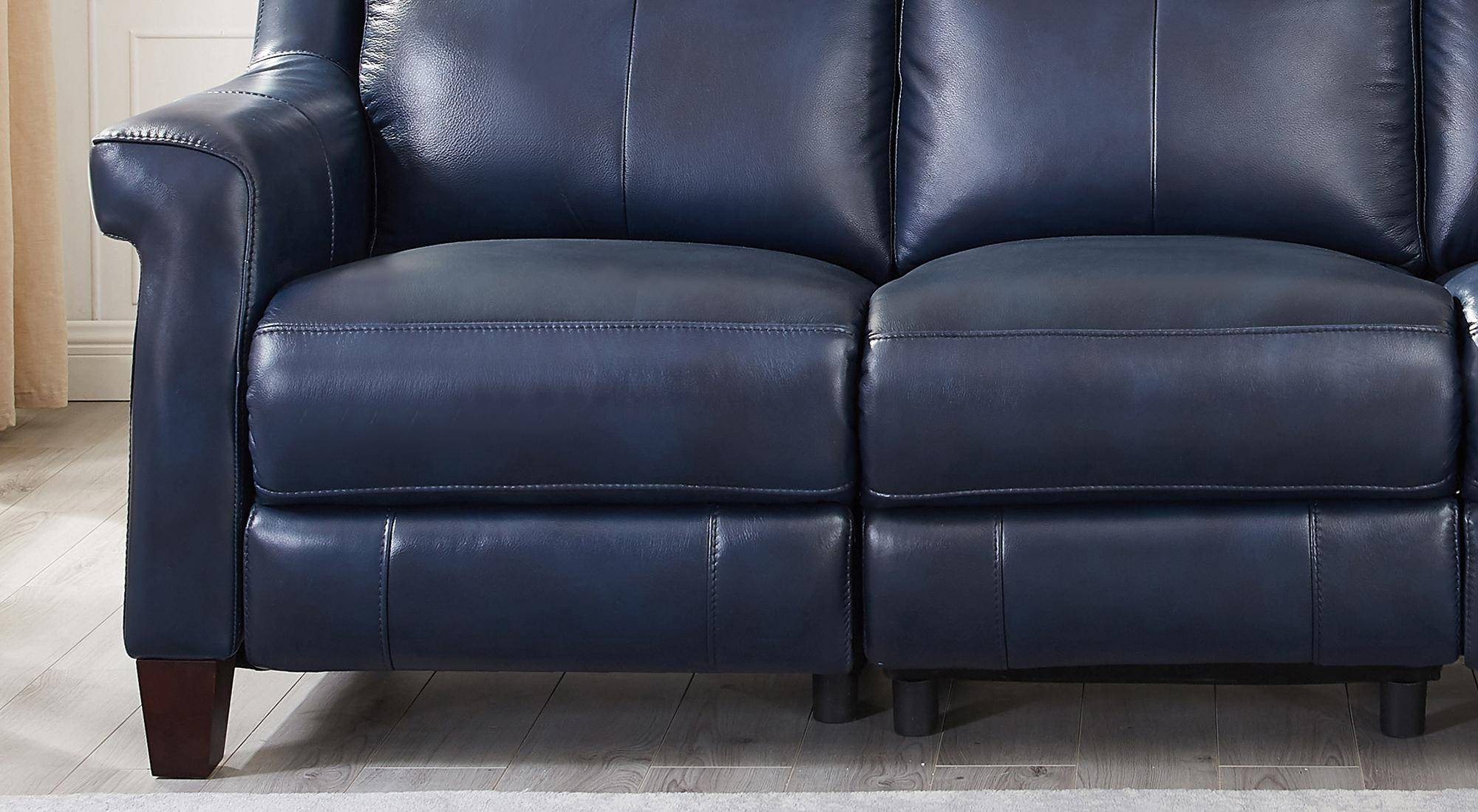 Brilliant Chatham Blue Genuine Leather Power Reclining Sofa Loveseat Andrewgaddart Wooden Chair Designs For Living Room Andrewgaddartcom