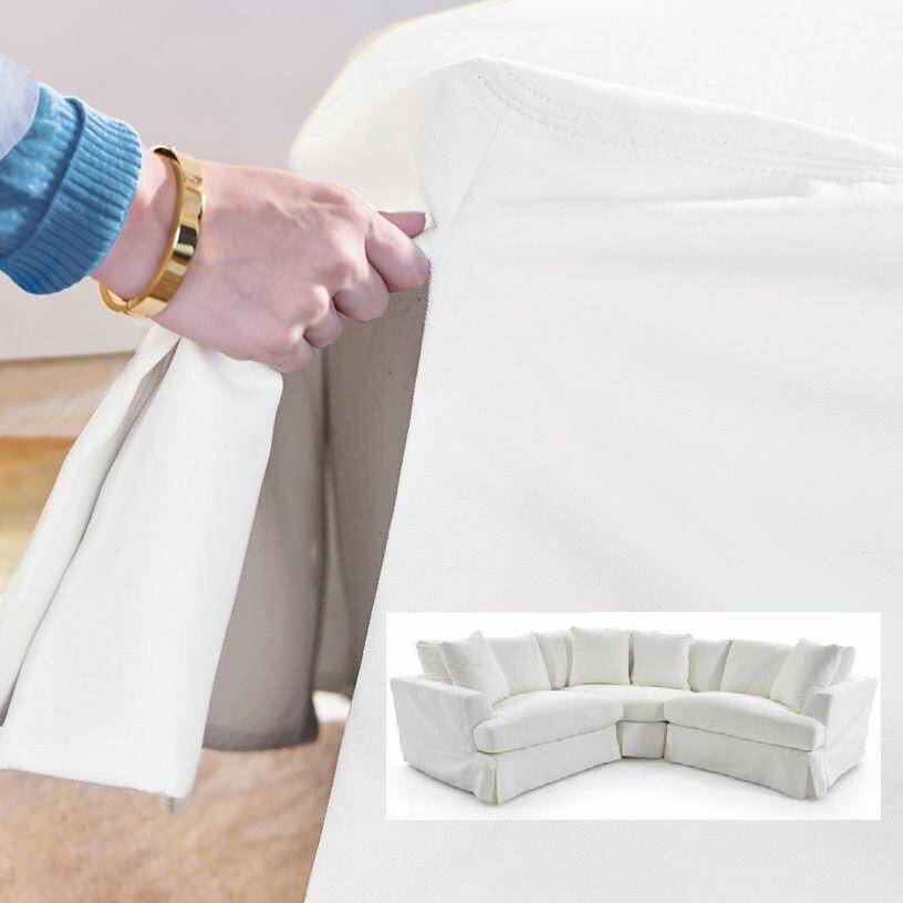 Super Soflex Hugo White Perl Stain Resistant Fabric Sectional Sofa Pabps2019 Chair Design Images Pabps2019Com