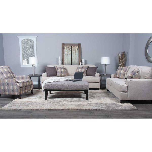 Ashley Brielyn 4 Piece Living Room Set in Linen (61402-38-35-21-08 ...