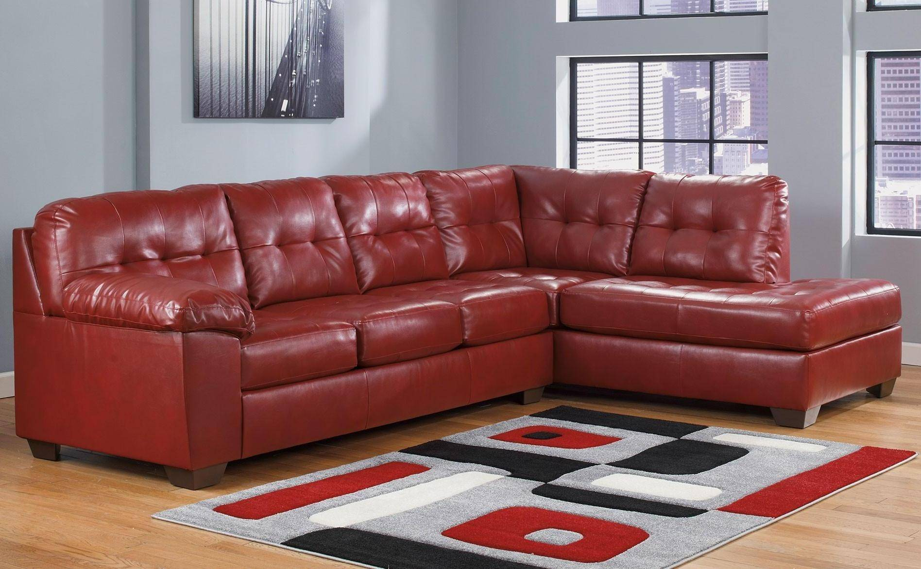 Ashley Alliston DuraBlend Sectional Salsa Signature Design ...