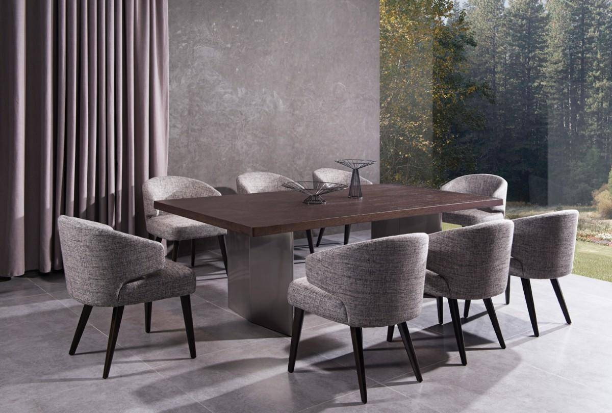 Vig Modrest Lexington Carlton Brown Oak Dining Table Grey