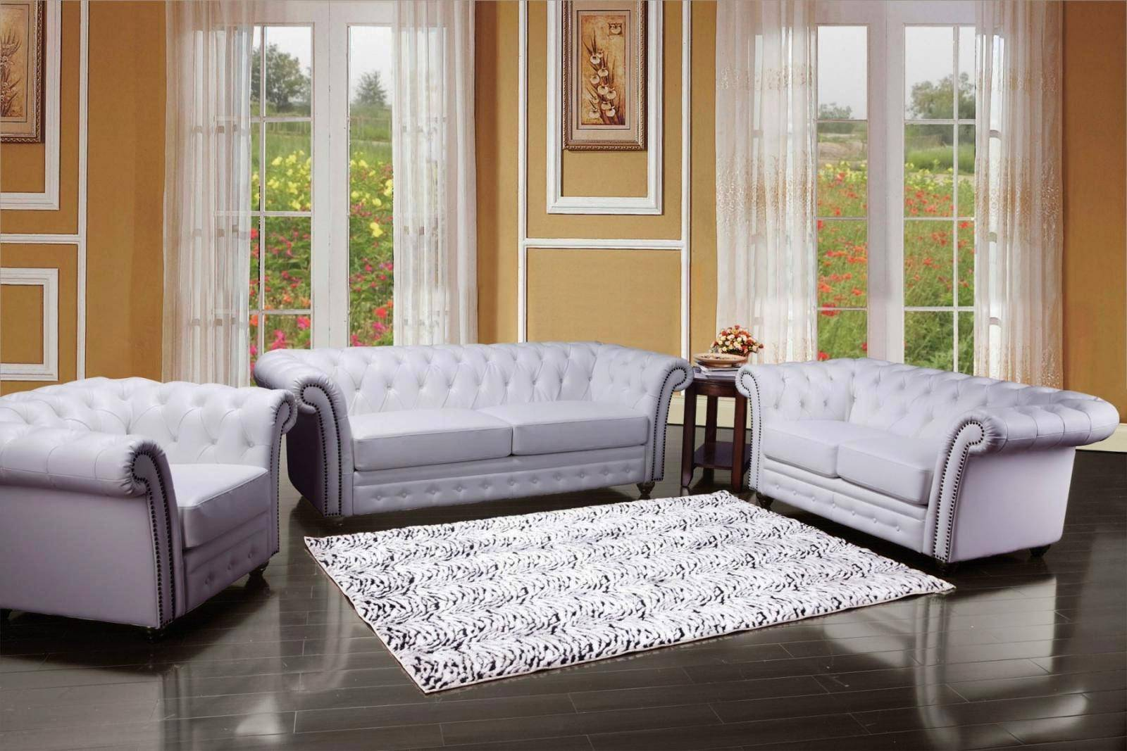 Pleasant Acme 50165 Camden White Bonded Leather Deep Tufted Sofa Set Forskolin Free Trial Chair Design Images Forskolin Free Trialorg