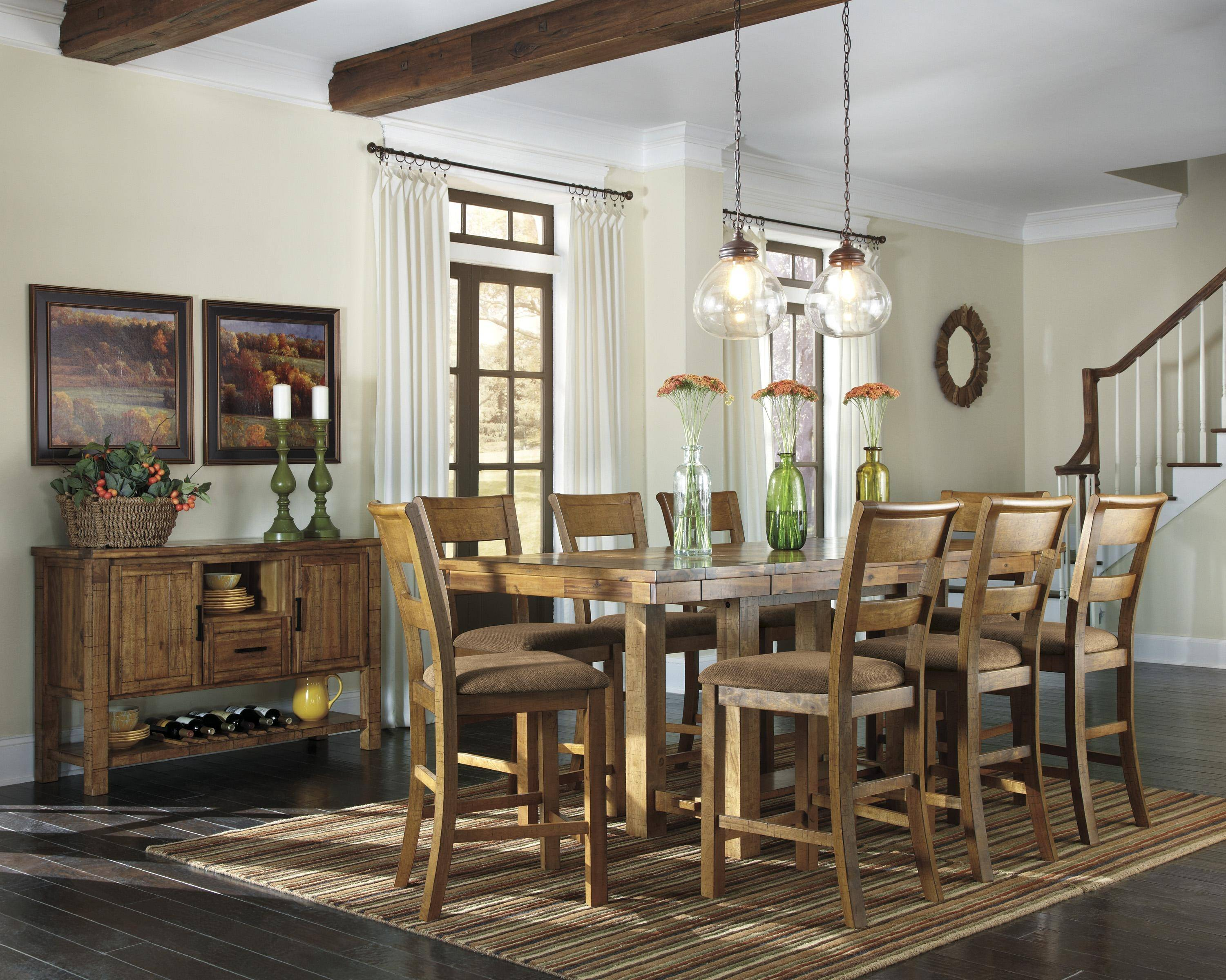 Find Many Great New Used Options And Get The Best Deals For Ashley Krinden D653 Dining Room Set 10pcs In Light Brown Casual Style At Online