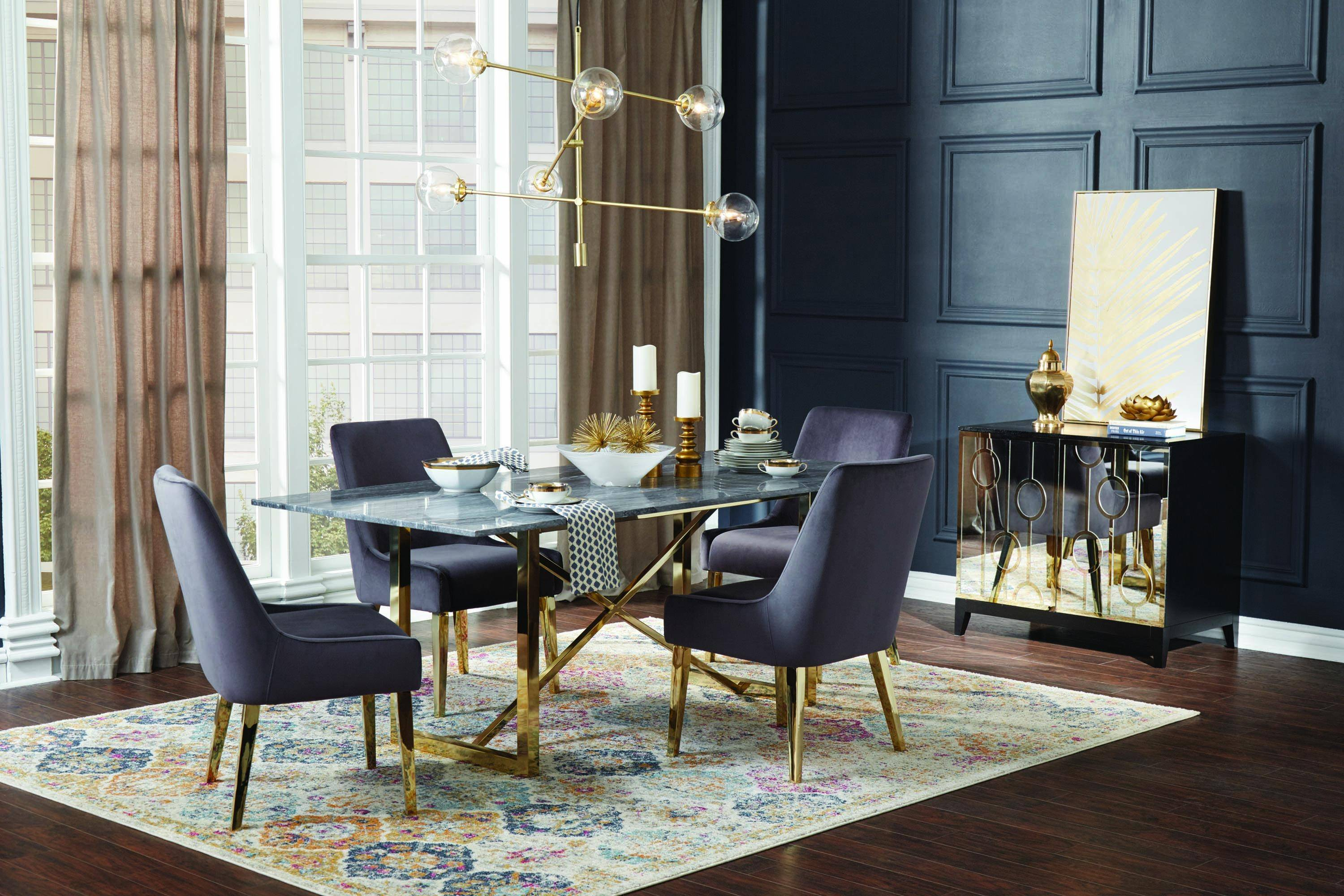 Groovy Modern Black Gold White Metal Stone Dining Table Arcade By Caraccident5 Cool Chair Designs And Ideas Caraccident5Info