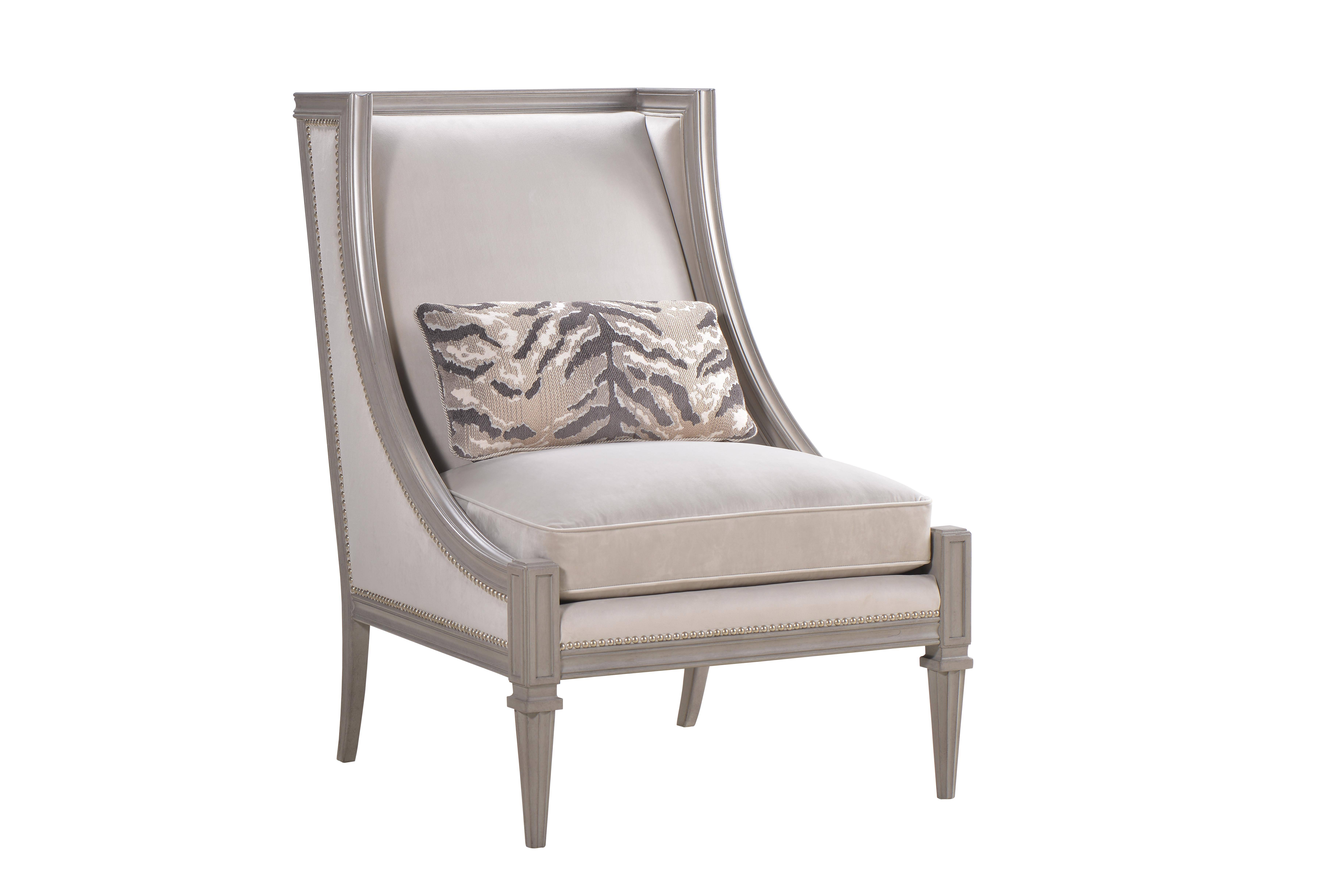 Casual Gray Fabric Living Room Chair Morrissey A.R.T. ...
