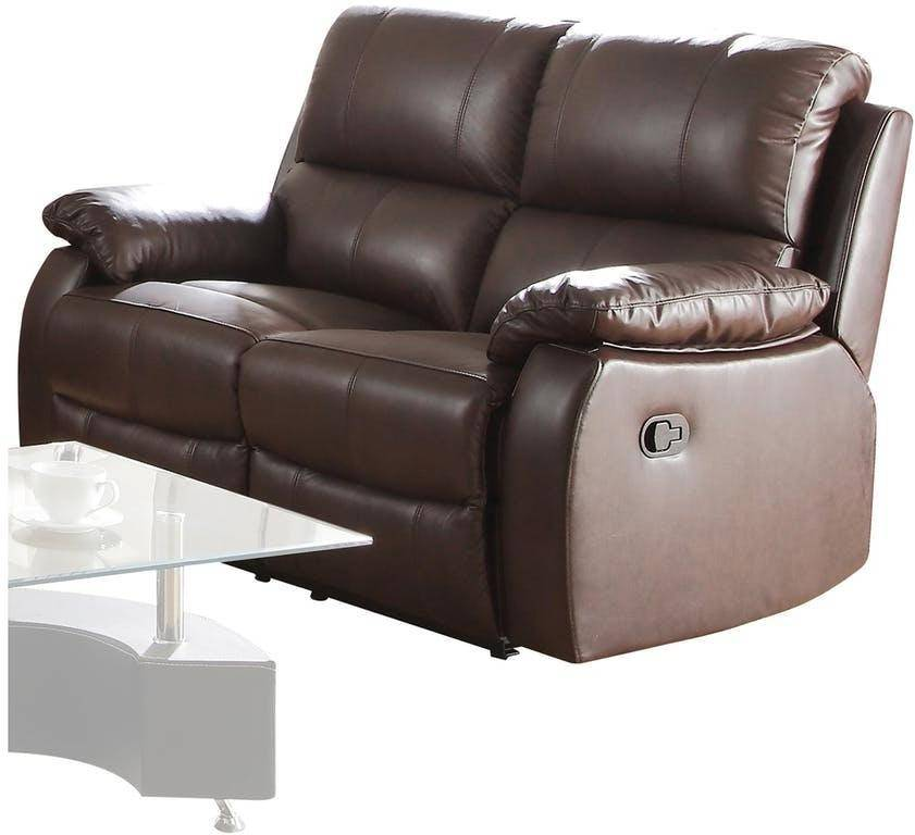 Brilliant Dark Brown Bonded Leather Reclining Sofa Loveseat Acme Caraccident5 Cool Chair Designs And Ideas Caraccident5Info
