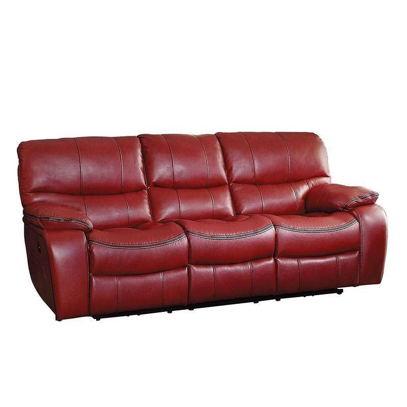 Homelegance 8480RED Pecos Red Leather Match Double Reclining Sofa ...