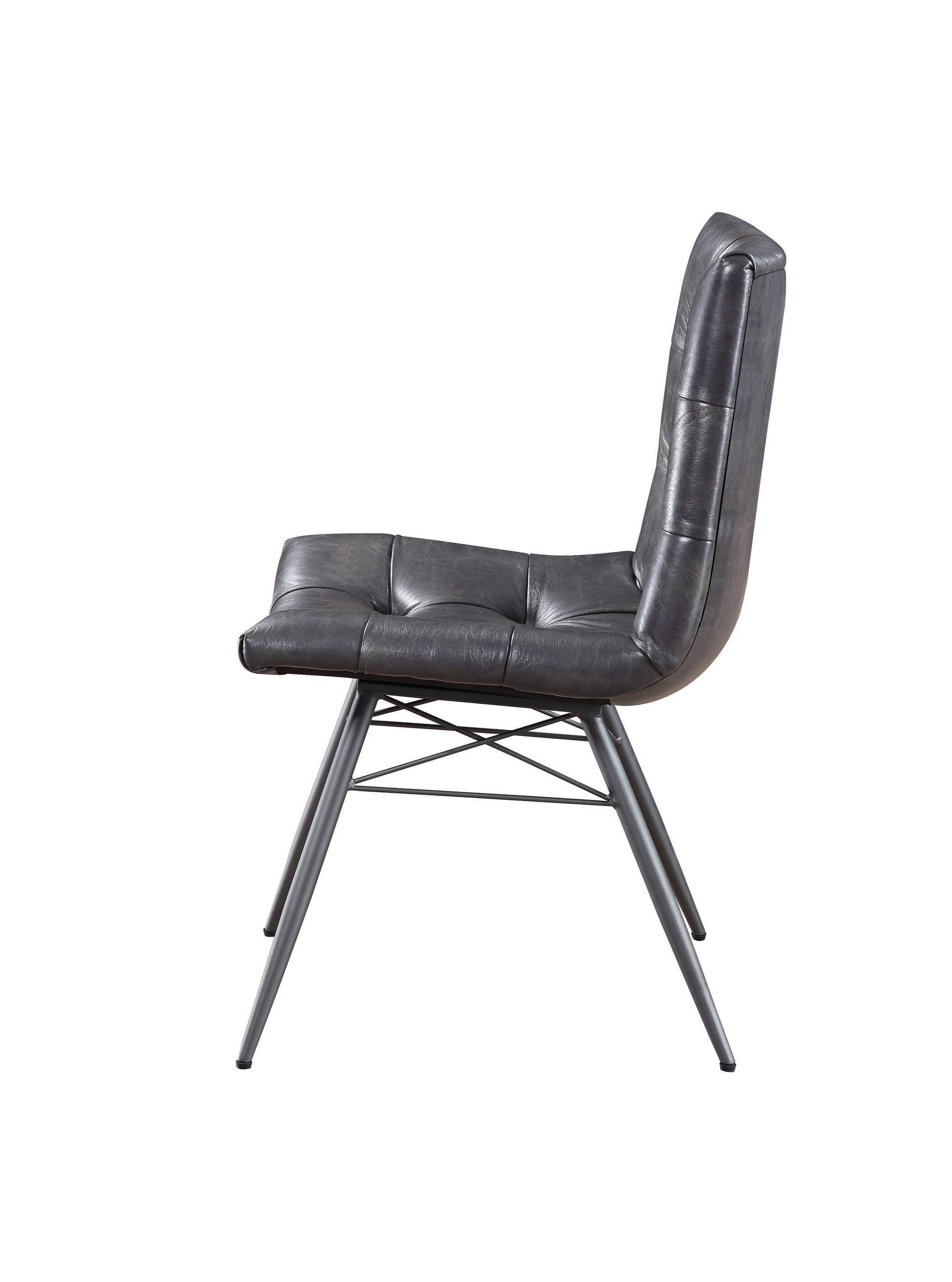 Terrific Modern Gray Faux Leather Upholstery Dining Chair Set 4 Pcs Gmtry Best Dining Table And Chair Ideas Images Gmtryco