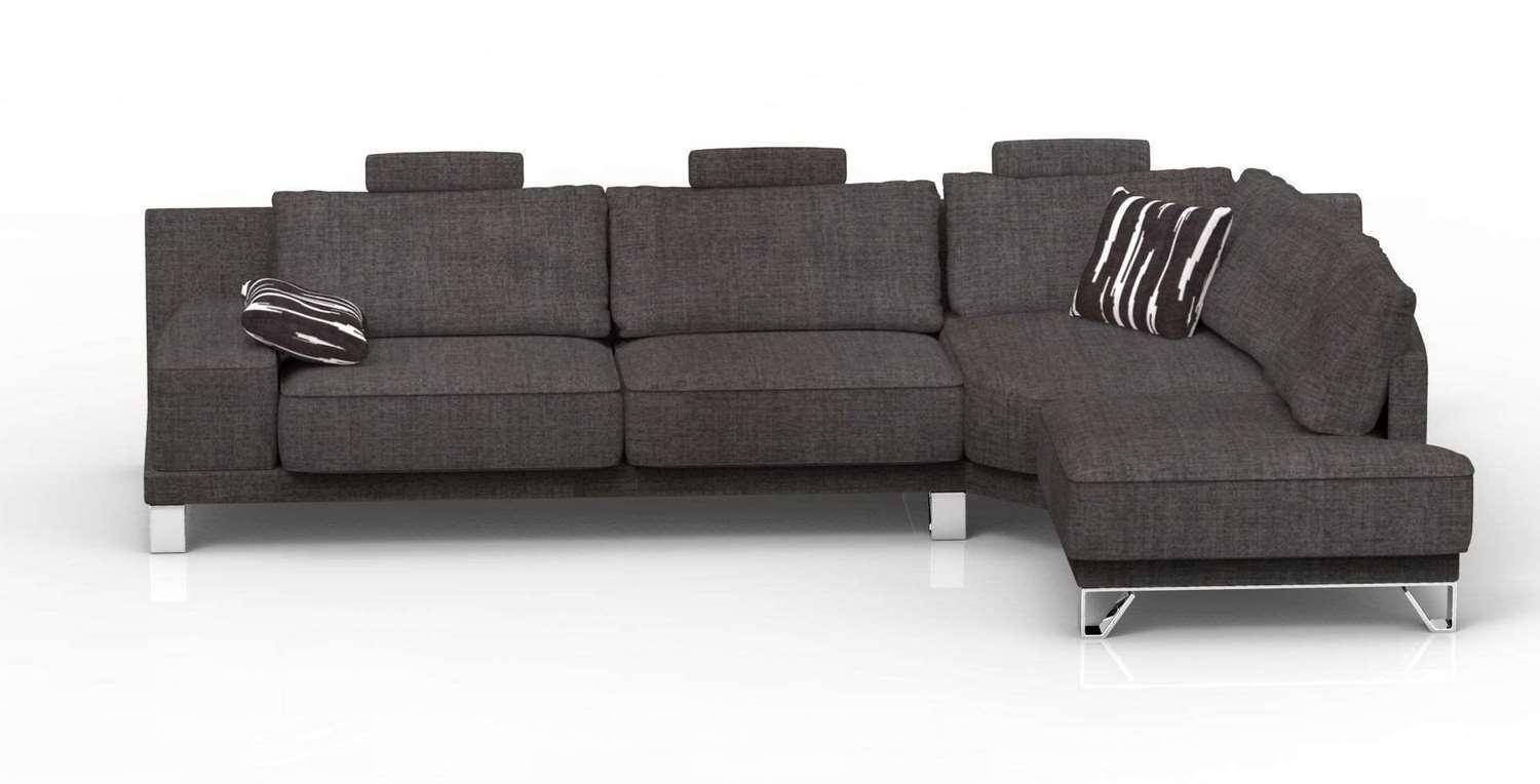 Soflex Madelyn Modern Modular Sectional Sofa with Chase ...