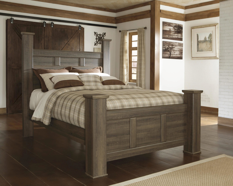 dark cherry upholstered poster king size bedroom set 3pcs