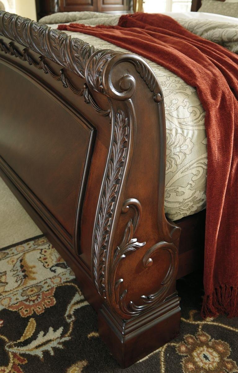 ashley north shore b553 queen size sleigh bedroom set 3pcs