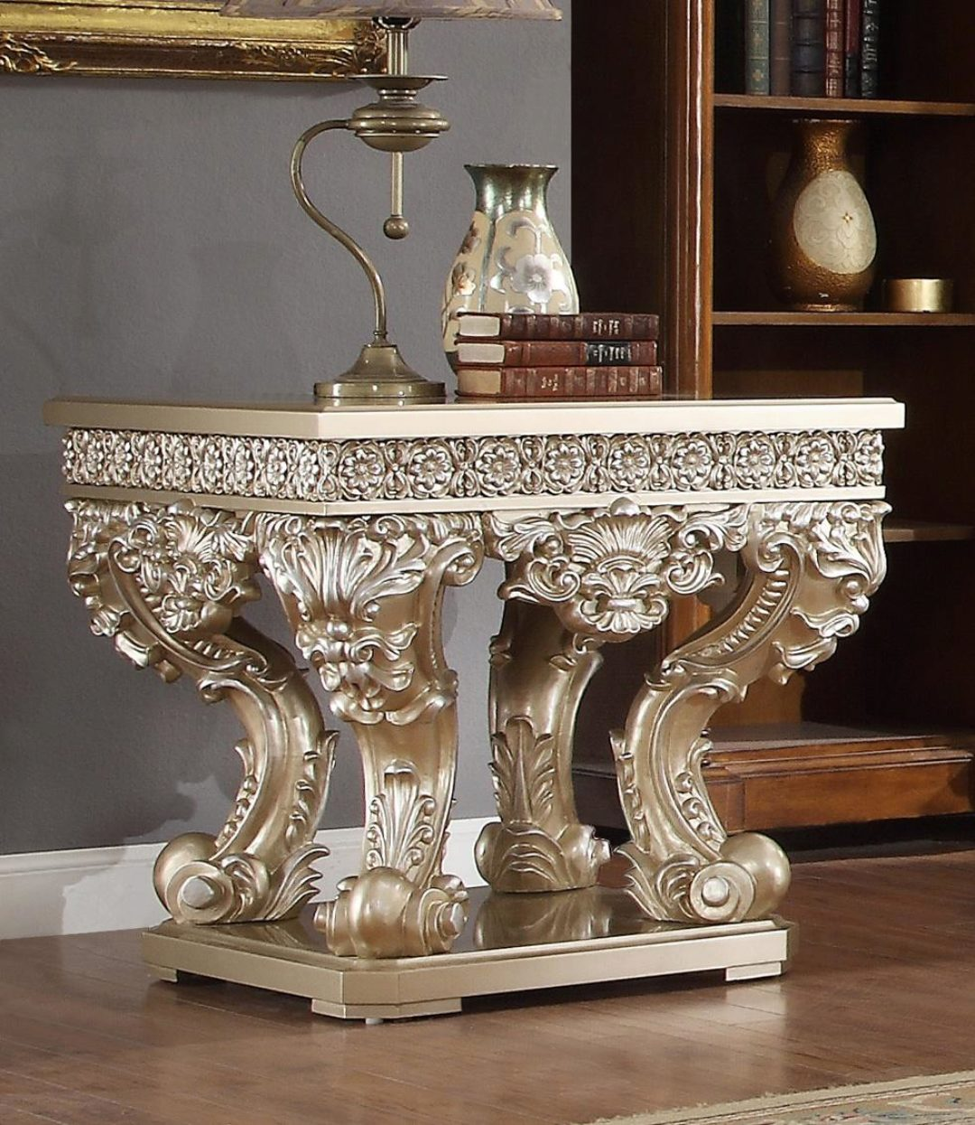 belle silver coffee table set 3pcs carved wood traditional