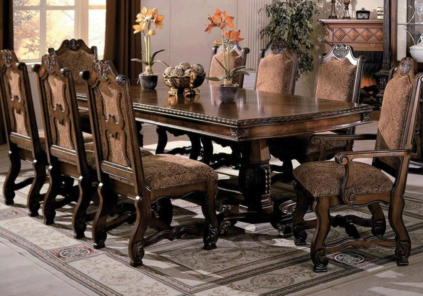 Crown Mark Neo Renaissance Traditional, Formal Dining Room Chairs