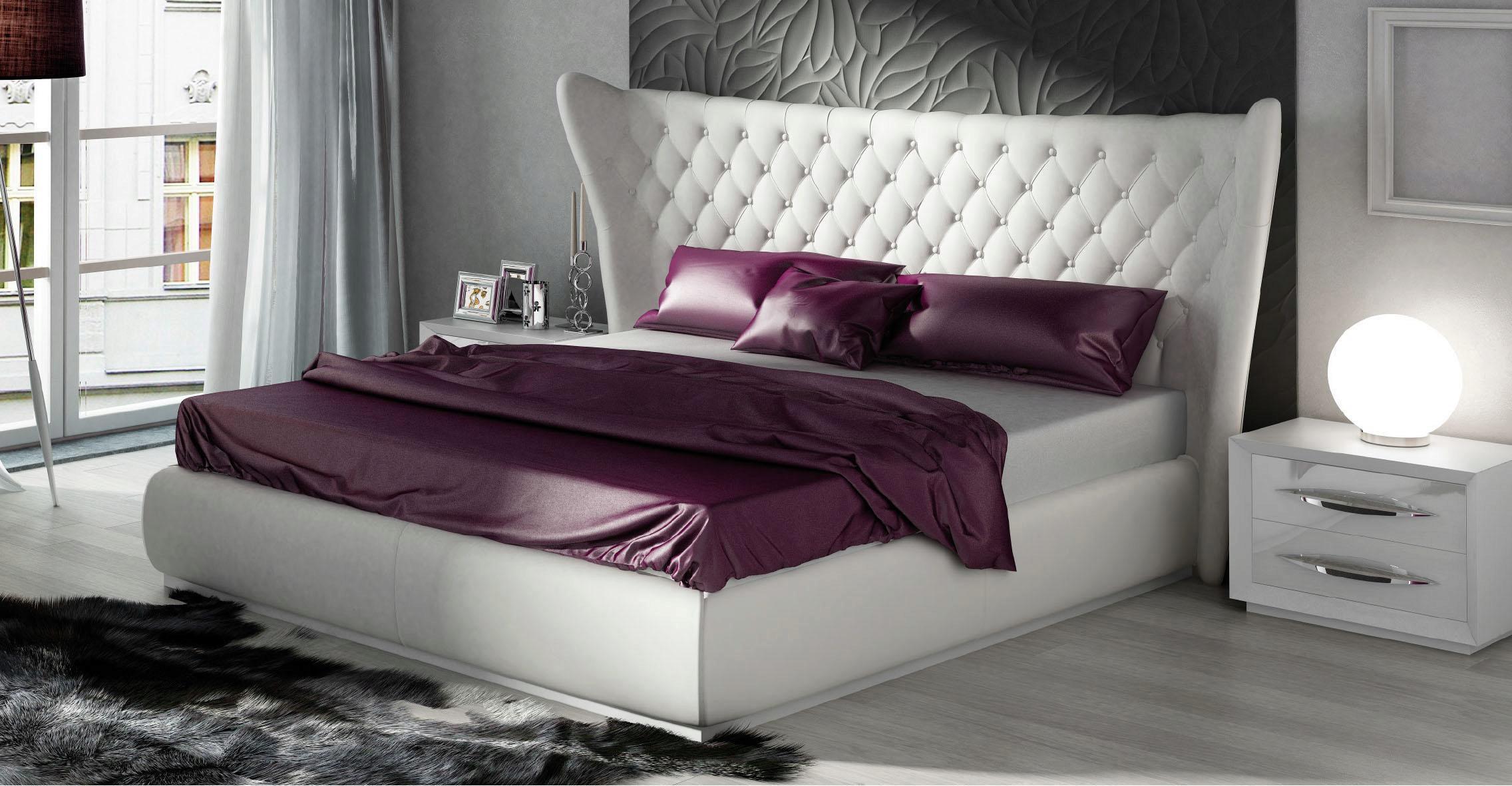 king bedroom set 5pcs ecoleather modern made in spain esf