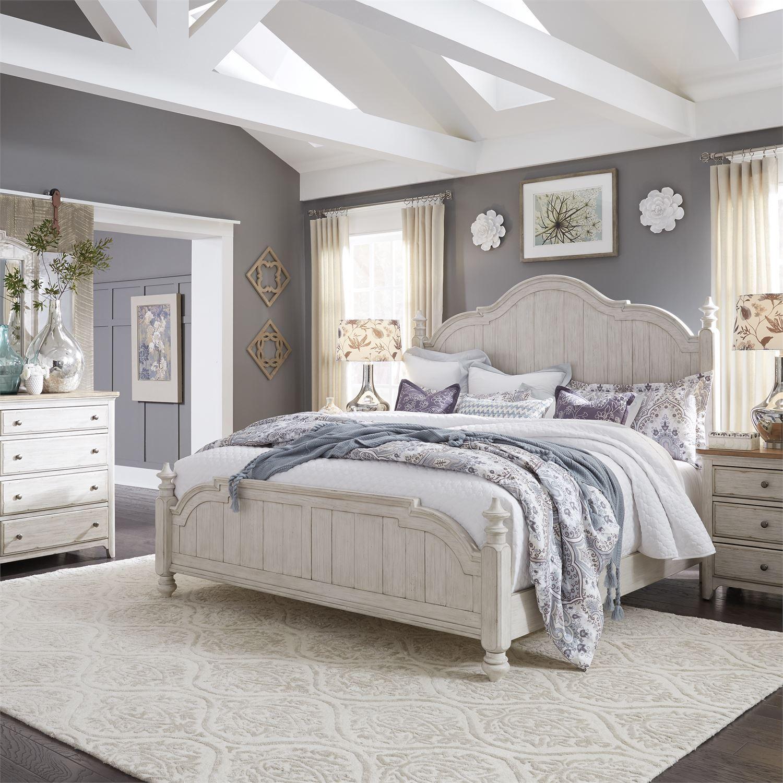 white wood queen poster bedroom set 4 pcs 652brqpsdmn