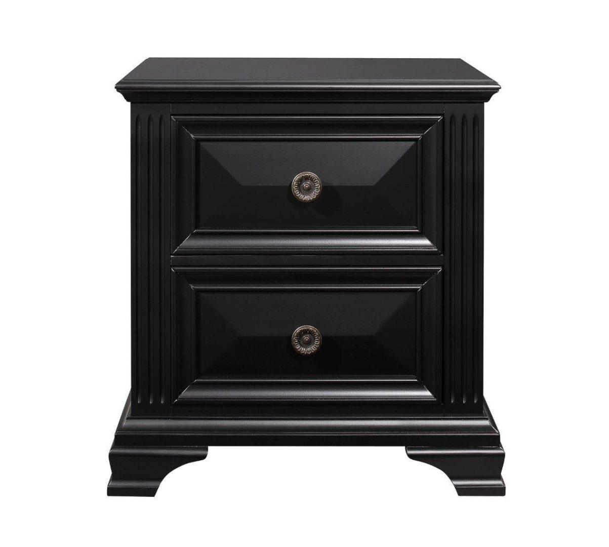 Image of: Global Furniture Carter Classic Gothic Design Black Finish King Bedroom Set 5pcs Carter Bedroom Ek Set 5