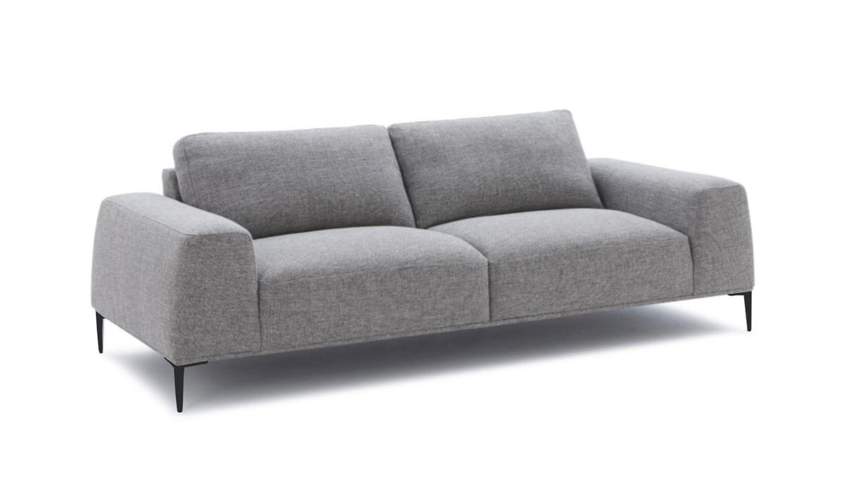 Grey Fabric Sofa Loveseat Set 2 Vig Divani Casa Arthur Modern Contemporary Vgcf550 Set