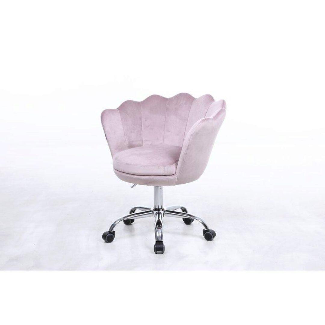 Home Office Chair Rose Quartz Velvet Chrome Micco 92938 Acme Contemporary Micco 92938 Buy Online