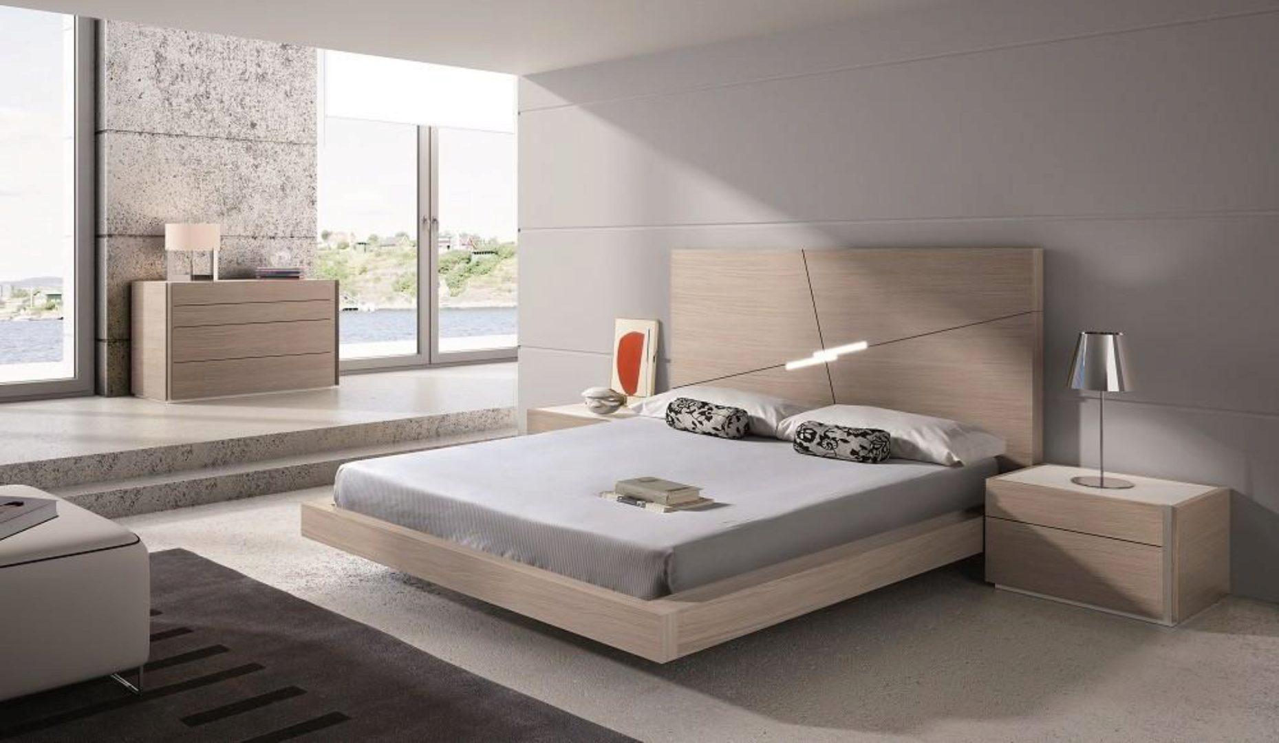 J M Evora Modern Wood Veneers Natural Lacquers Premium Platform King Size Bedroom Set 5pcs J Amp M Sku18145 Ek Set 5