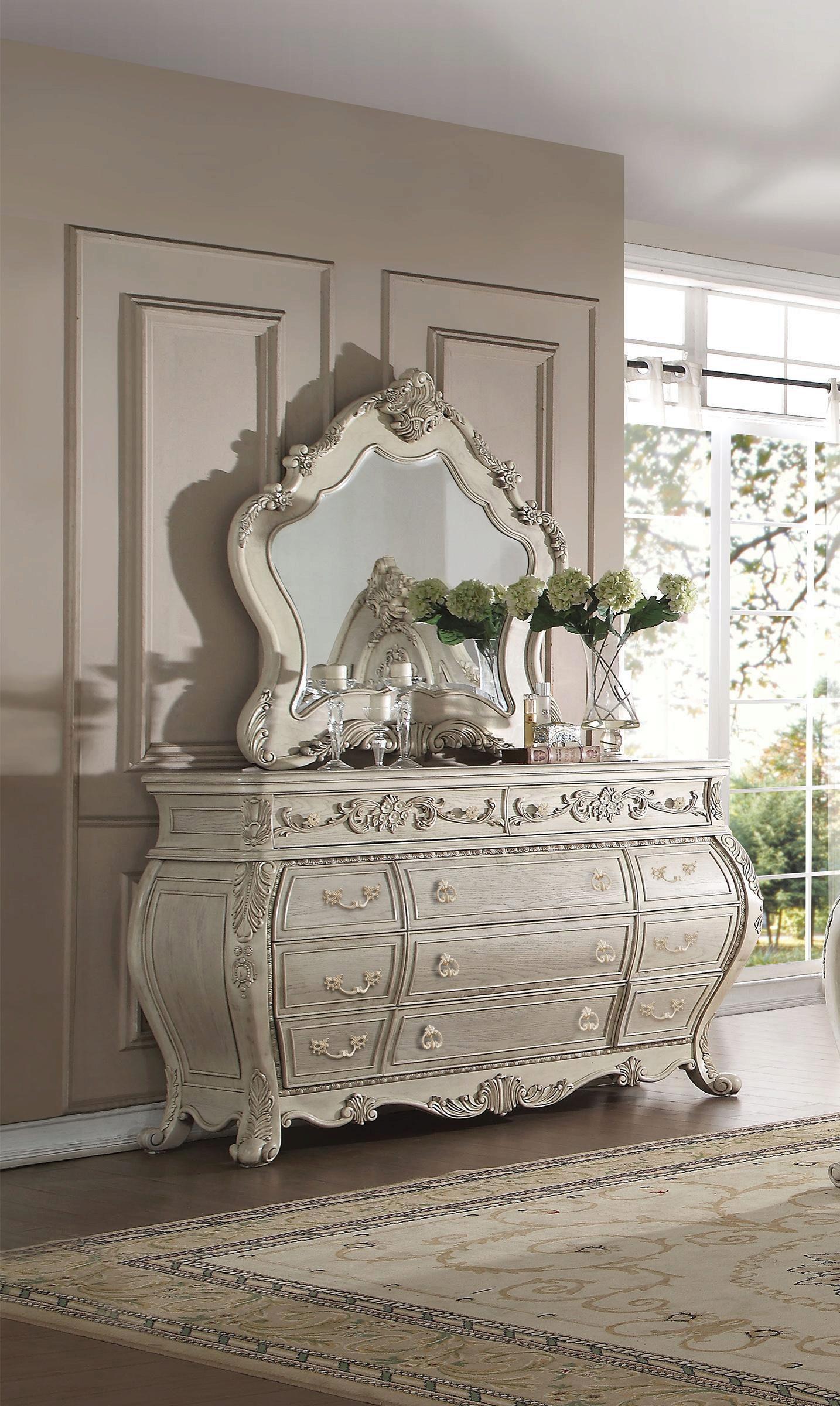 Luxury Beige Stultz Queen Tufted Upholstered Standard Bedroom Set 3 Classic Sku Astd3299