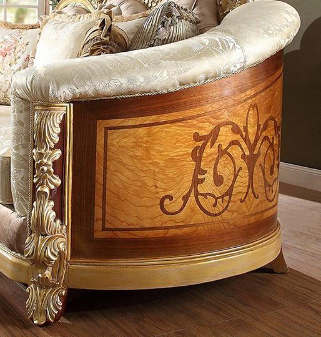 Luxury Brown & Beige Sofa Traditional Homey Design HD-821 ...