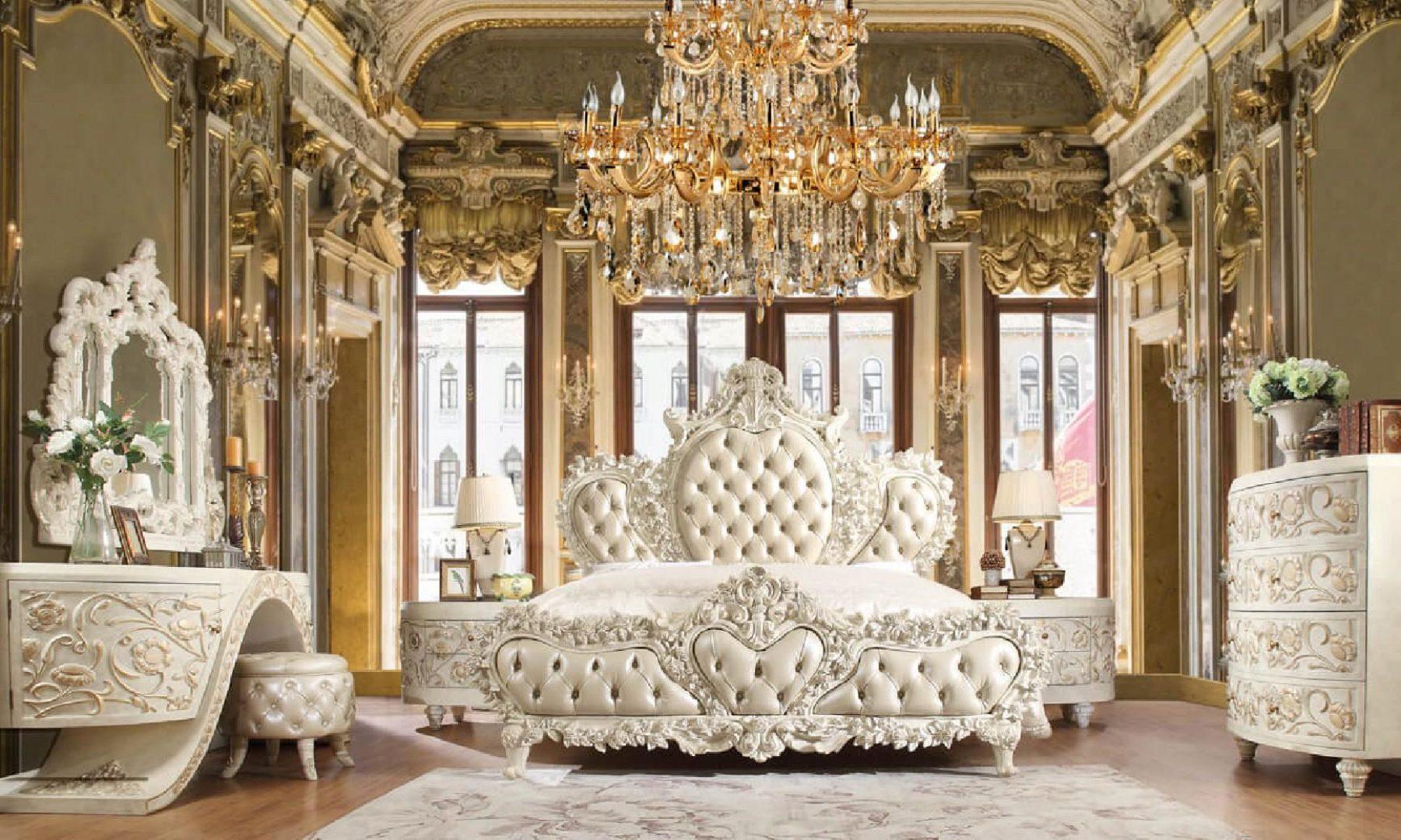 Luxury King Bedroom Set 3 Pcs White Traditional Homey Design Hd 8030 Hd Ek8030 Set 3