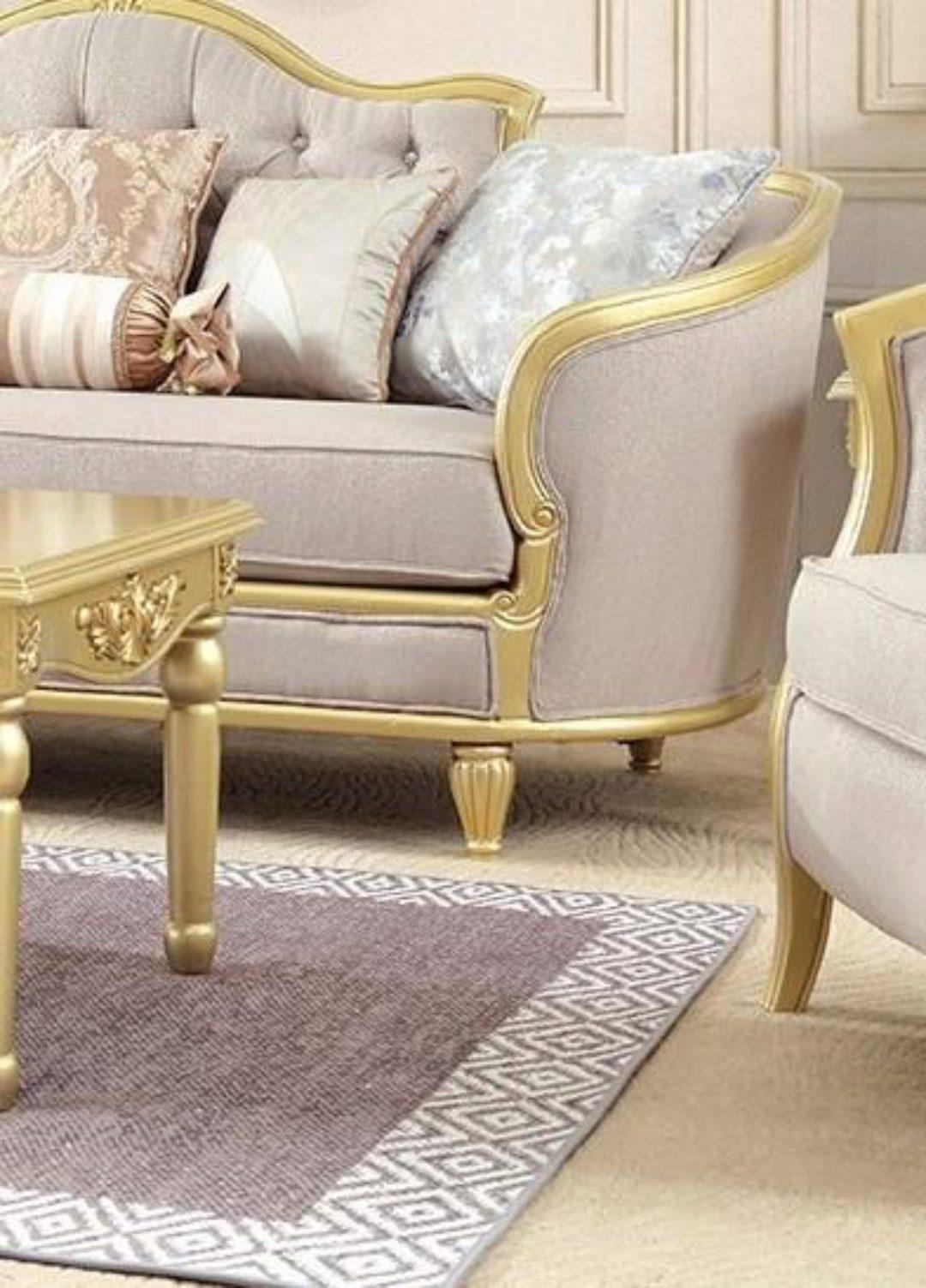 Luxury Metallic Gold Finish Sofa Modern Homey Design HD ...