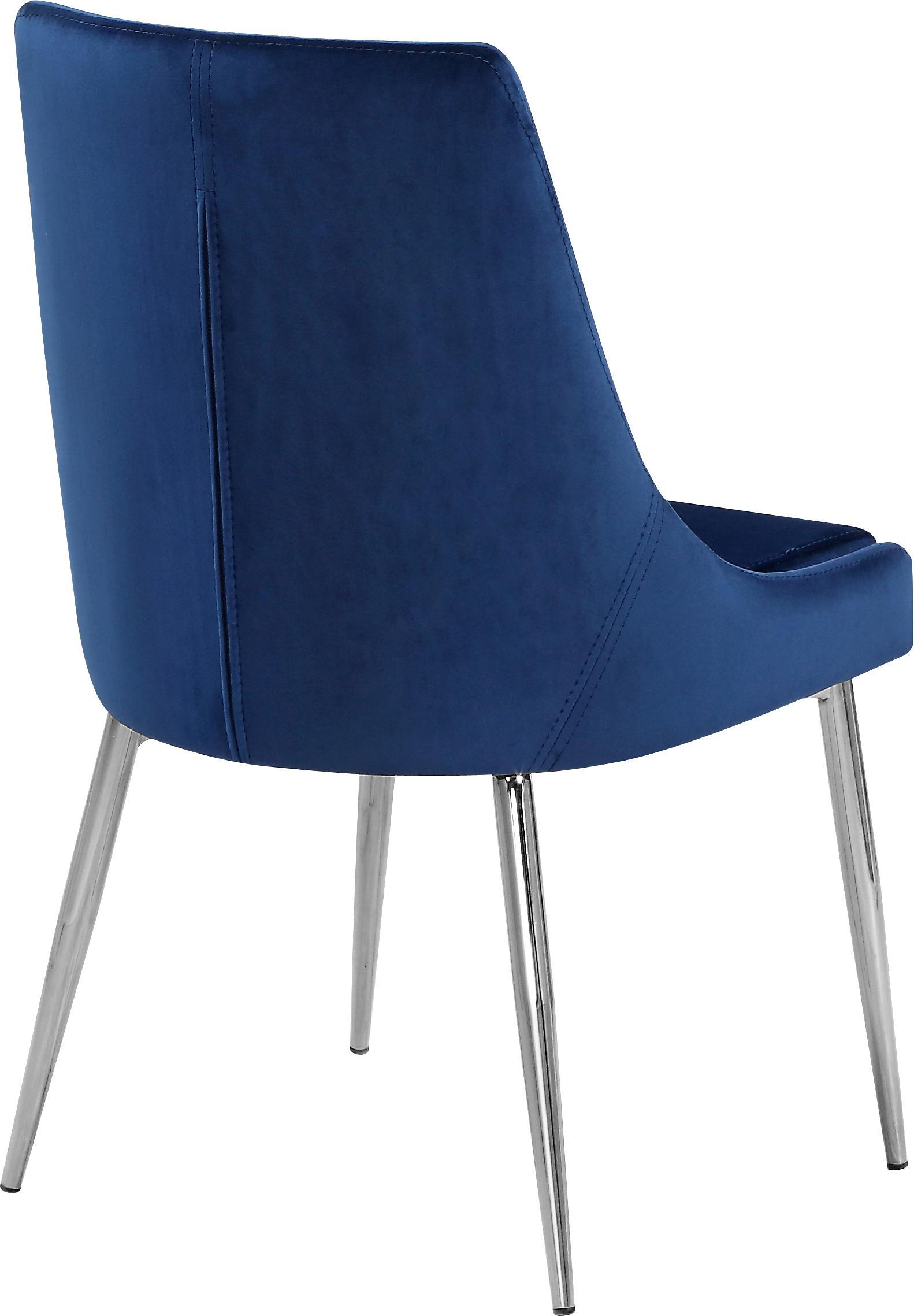 Meridian Furniture Elle Dining Table & Karina Navy Velvet ...
